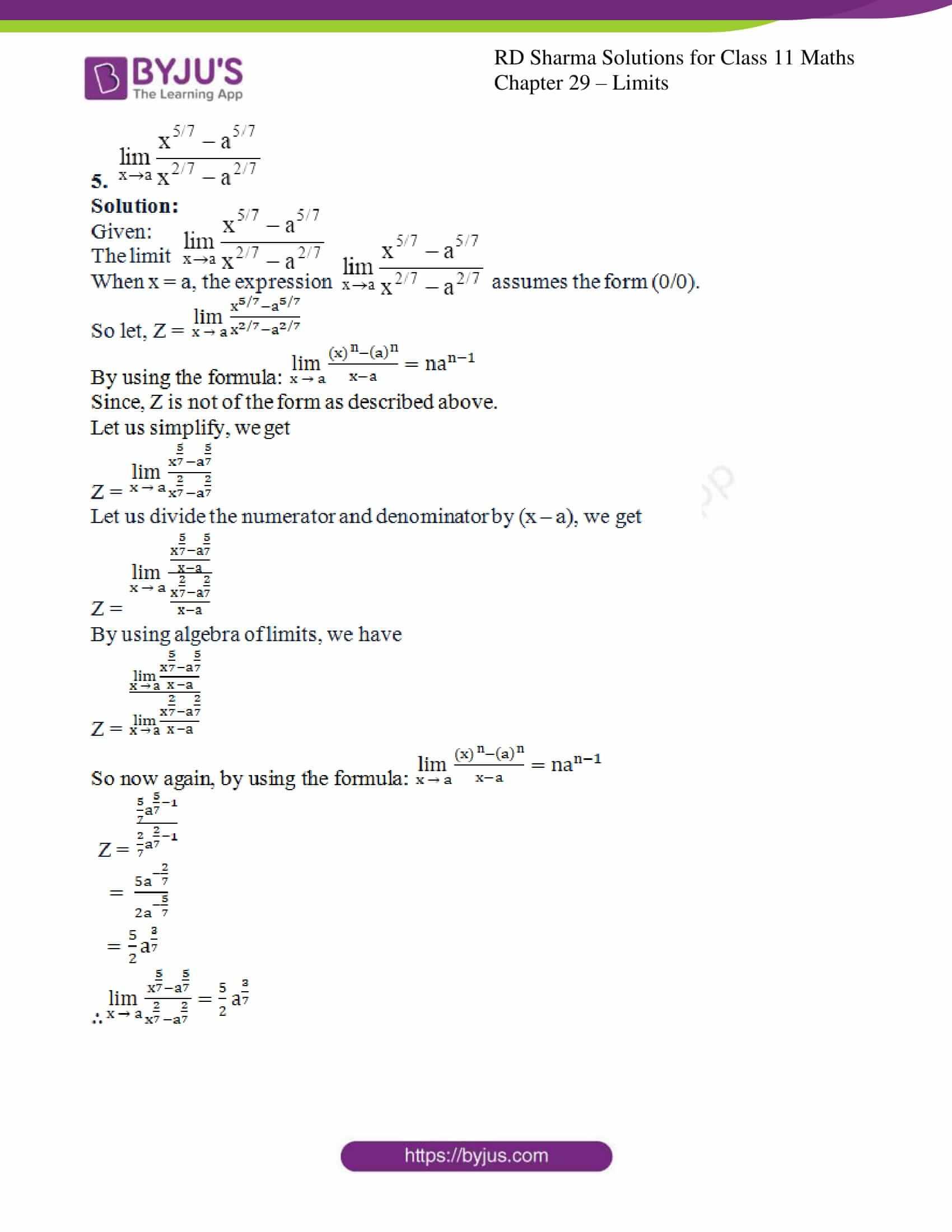 rd sharma class 11 maths chapter 29 ex 5 4