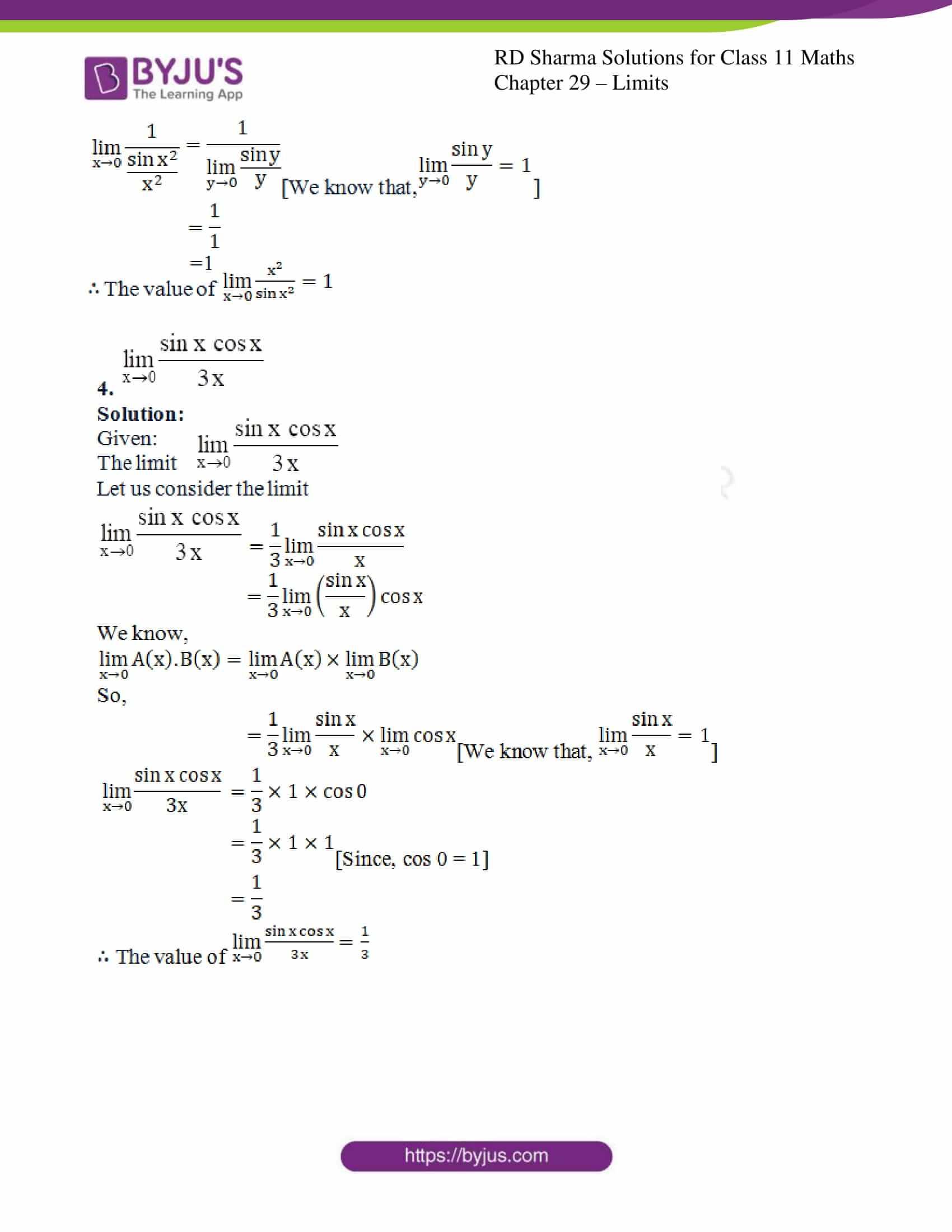 rd sharma class 11 maths chapter 29 ex 7 3