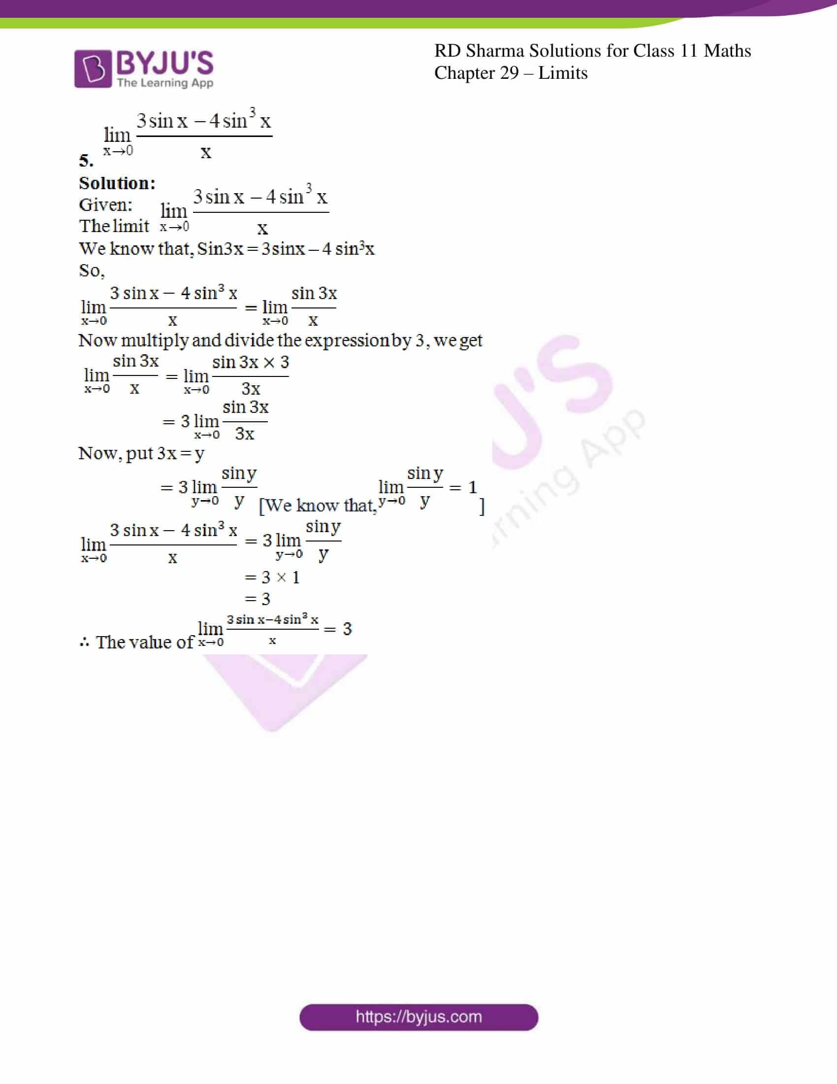 rd sharma class 11 maths chapter 29 ex 7 4