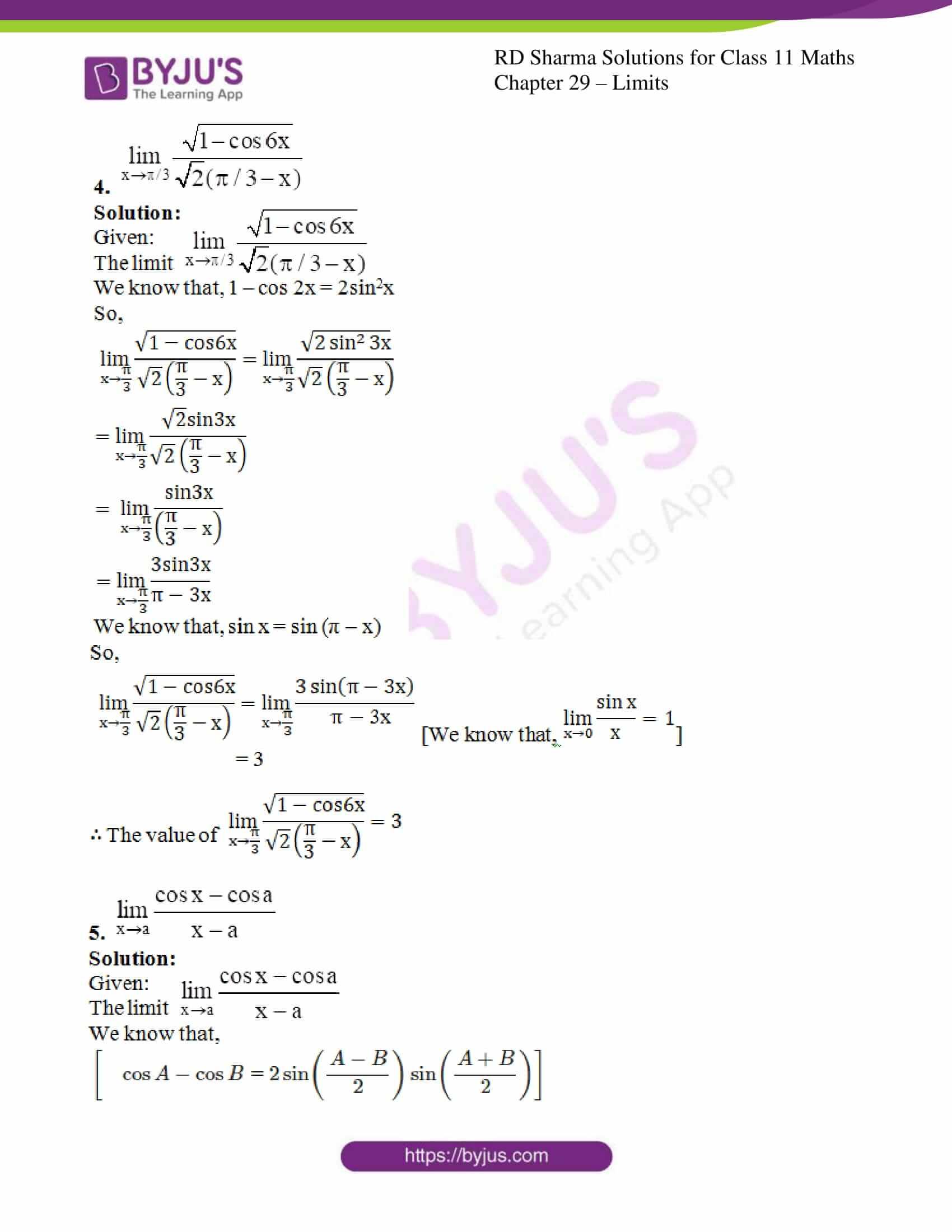 rd sharma class 11 maths chapter 29 ex 8 3