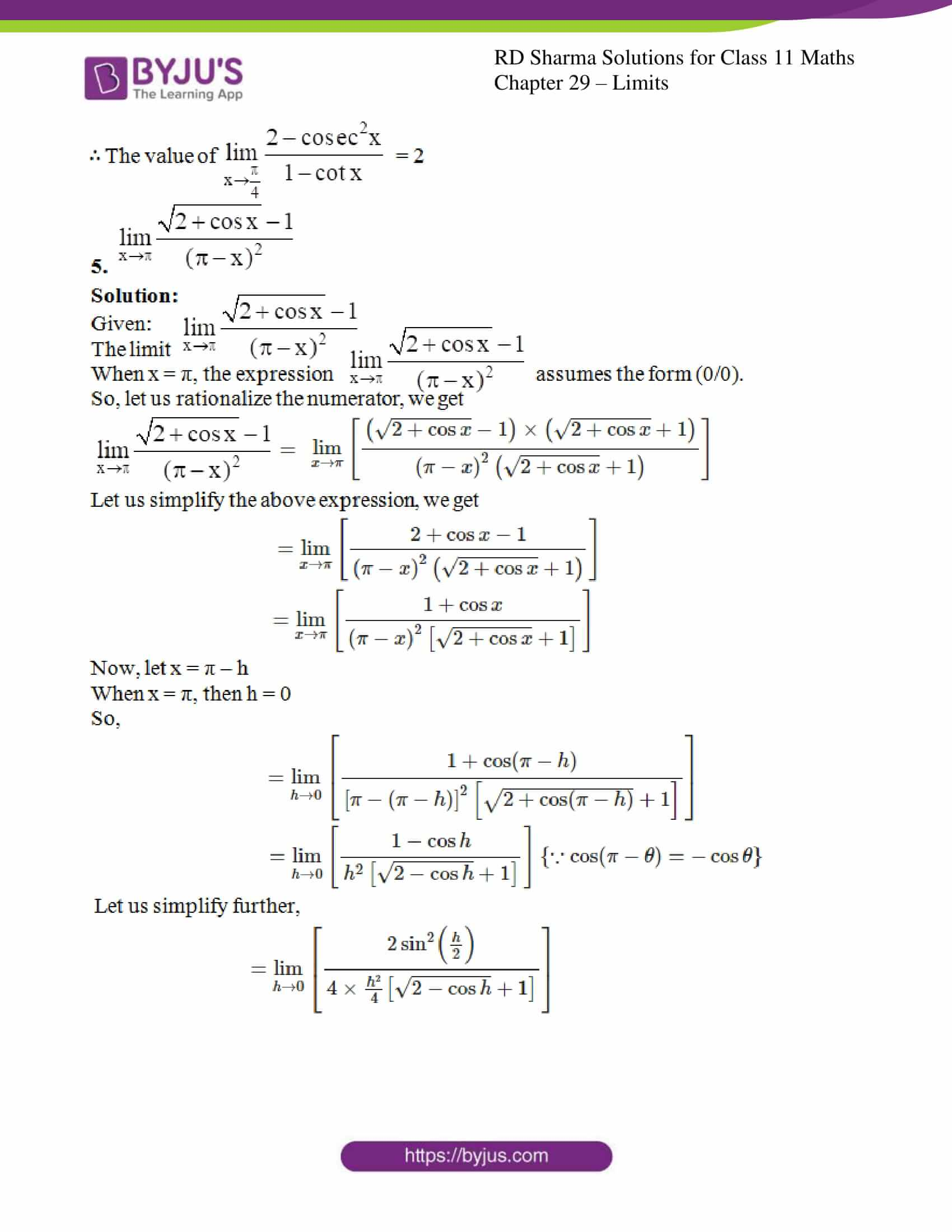 rd sharma class 11 maths chapter 29 ex 9 4