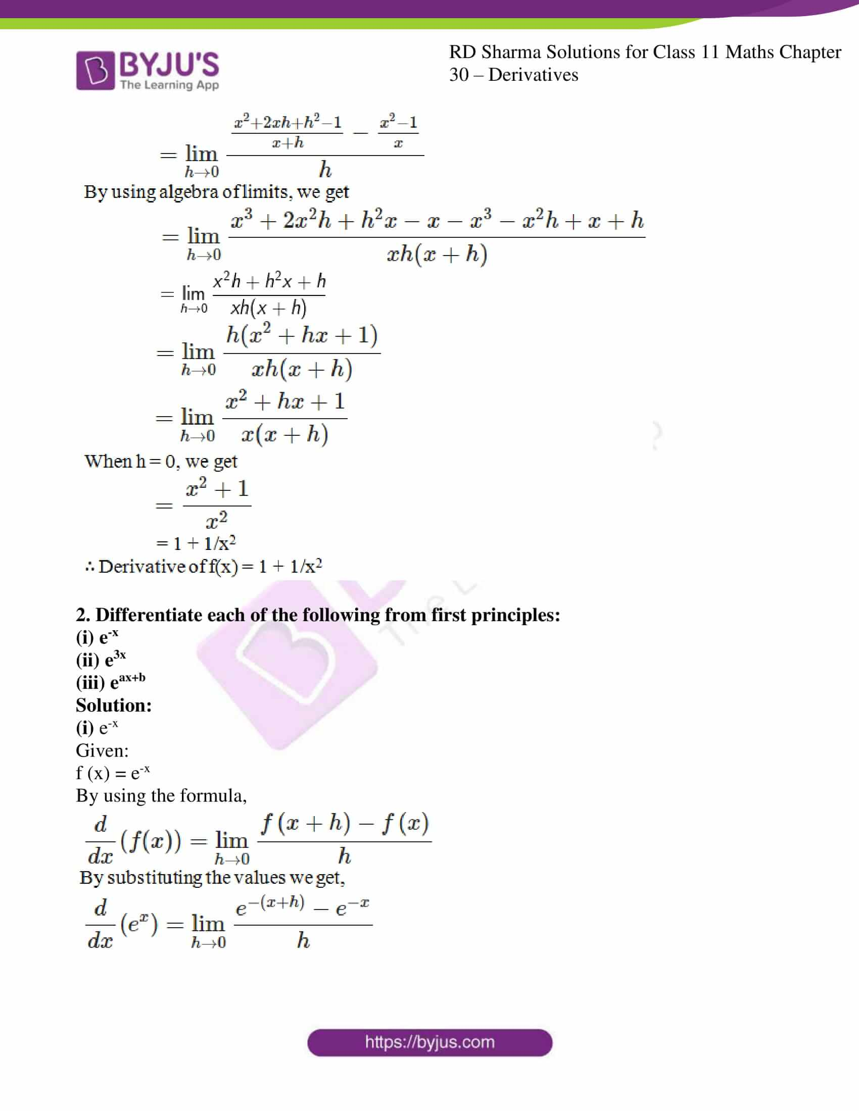 rd sharma class 11 maths chapter 30 ex 2 05