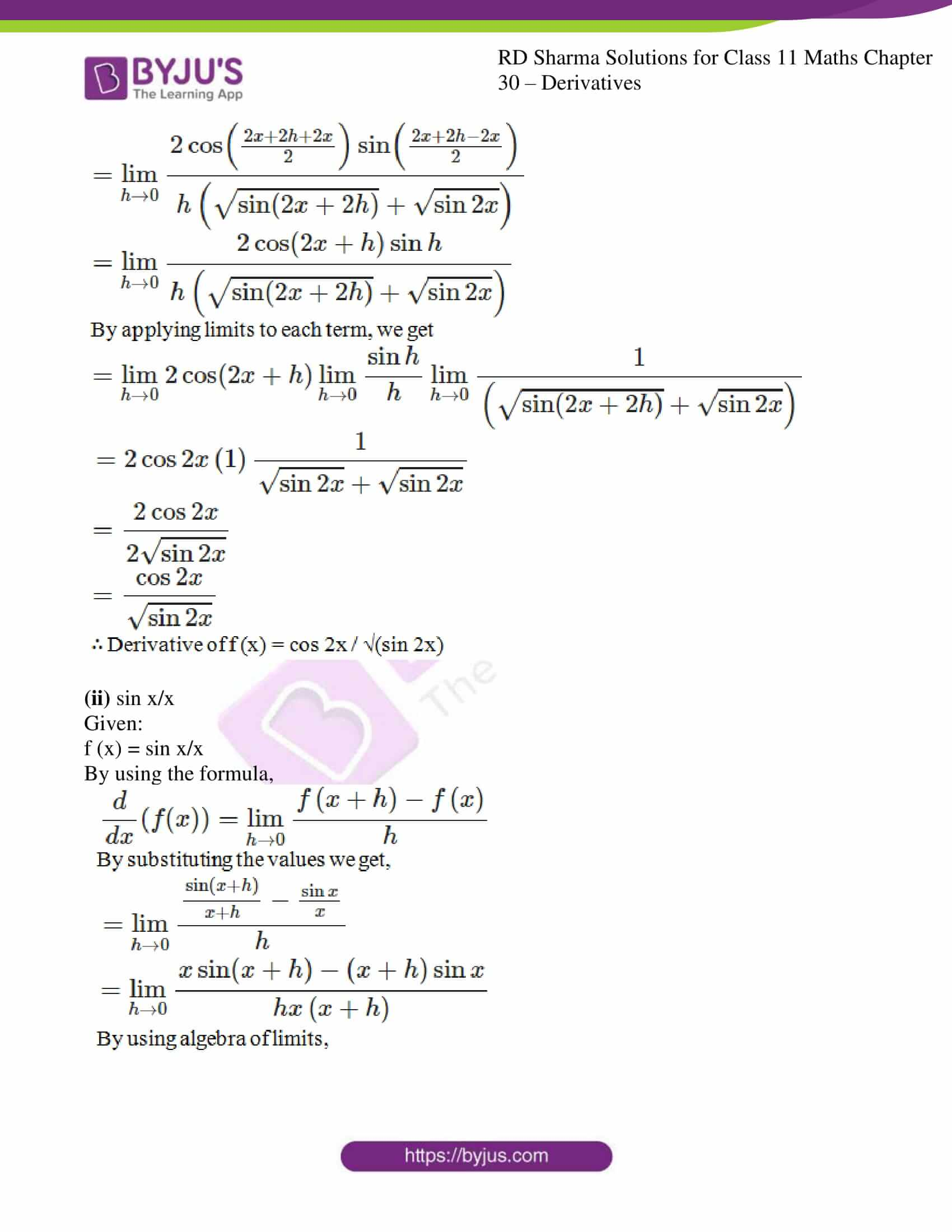 rd sharma class 11 maths chapter 30 ex 2 09