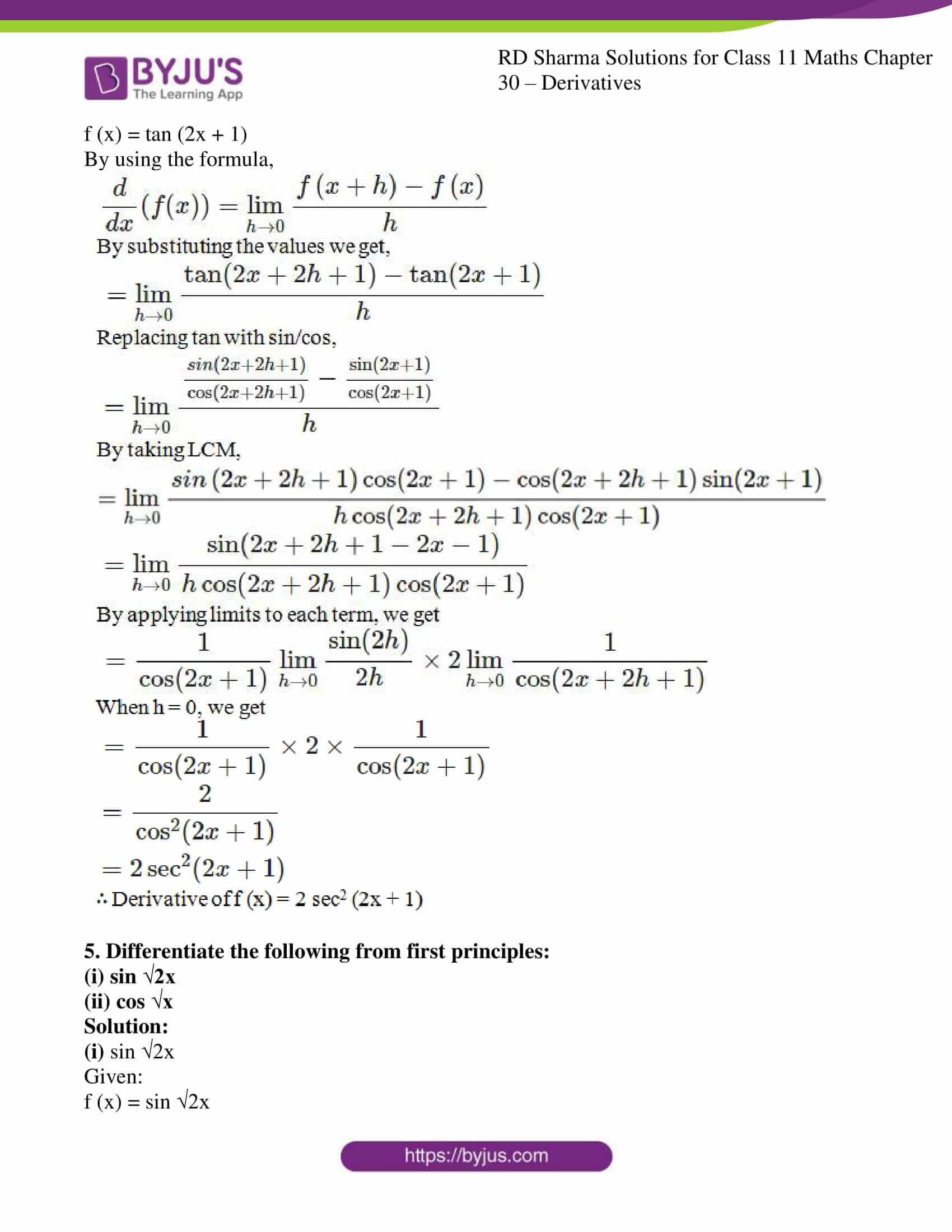 rd sharma class 11 maths chapter 30 ex 2 12