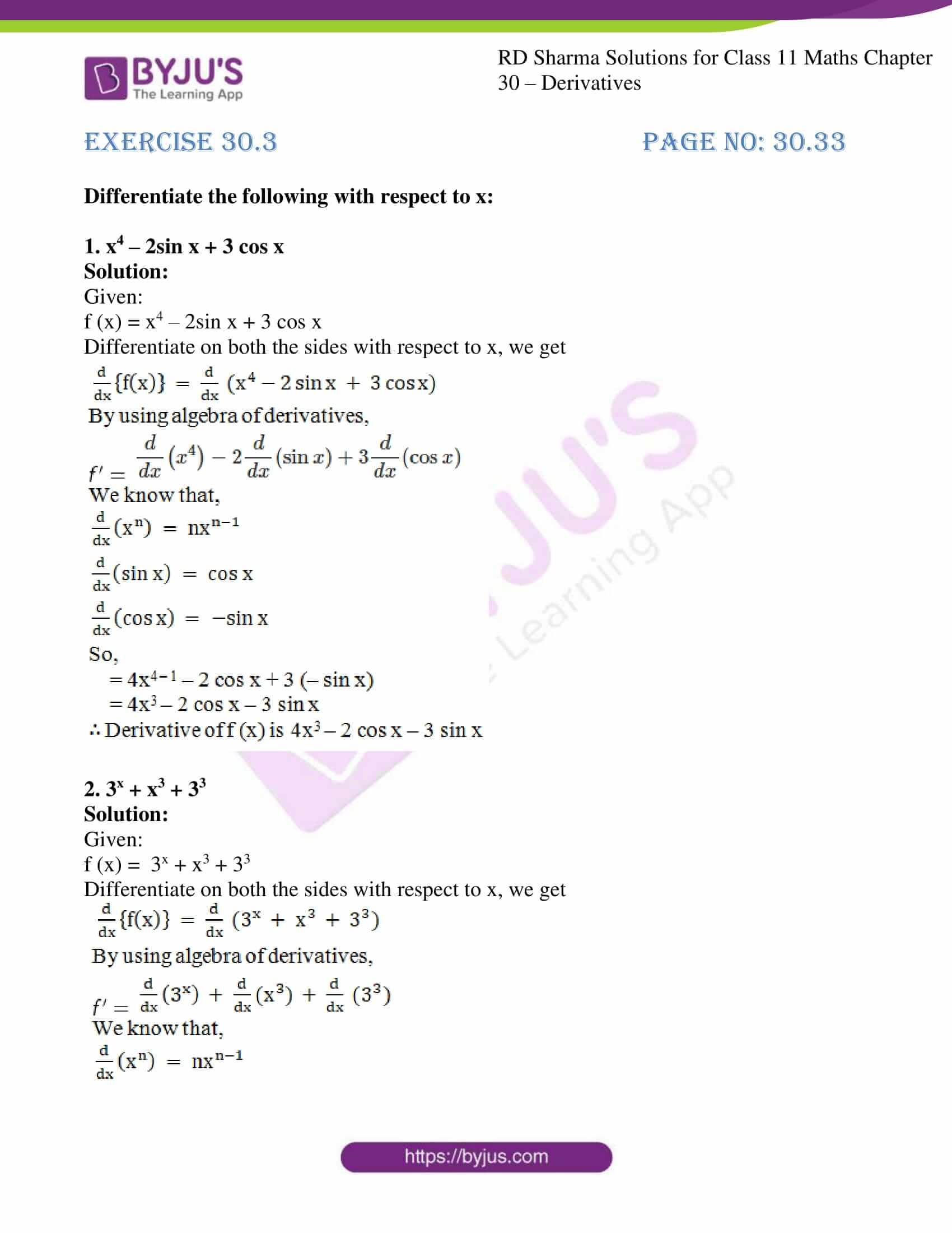 rd sharma class 11 maths chapter 30 ex 3 1