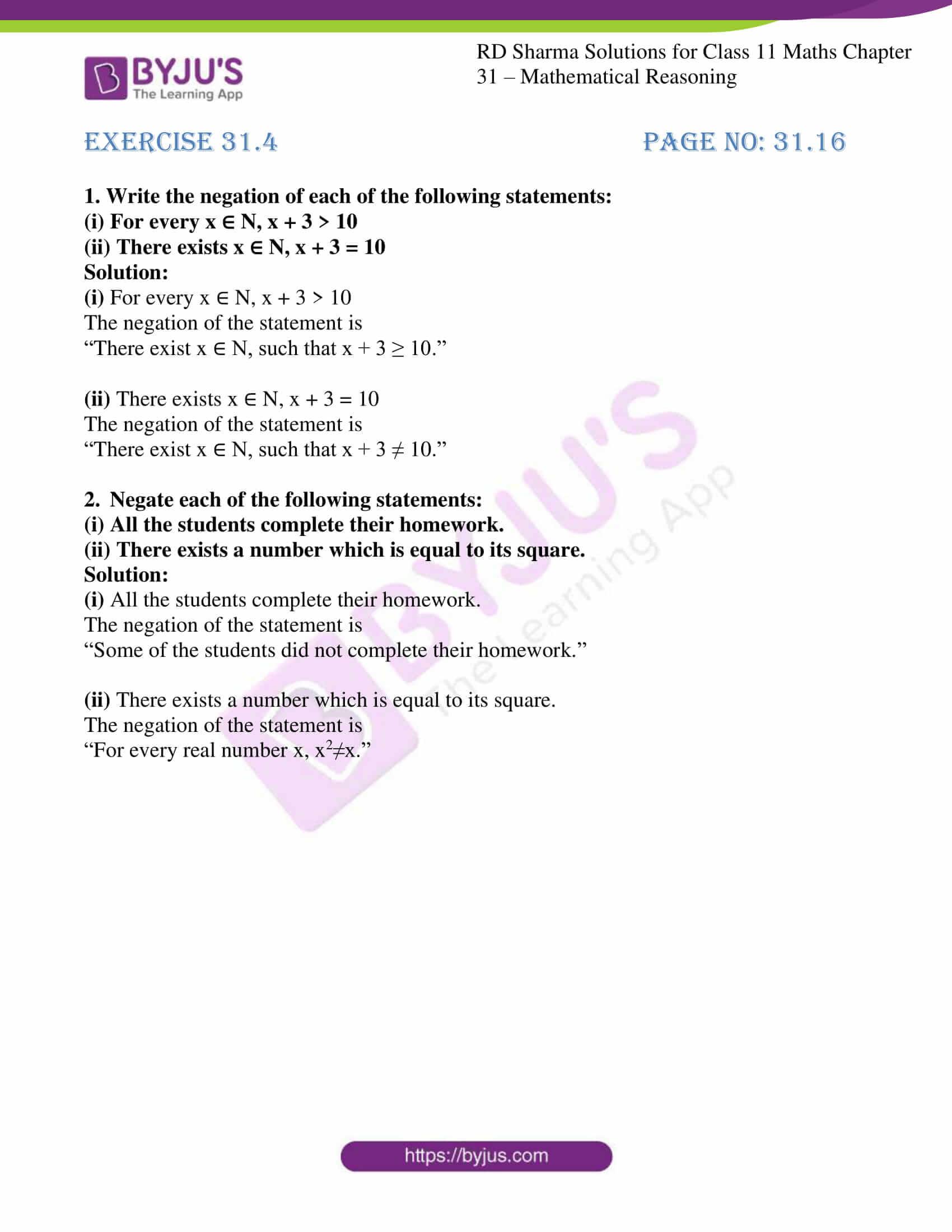 rd sharma class 11 maths chapter 31 ex 4 1