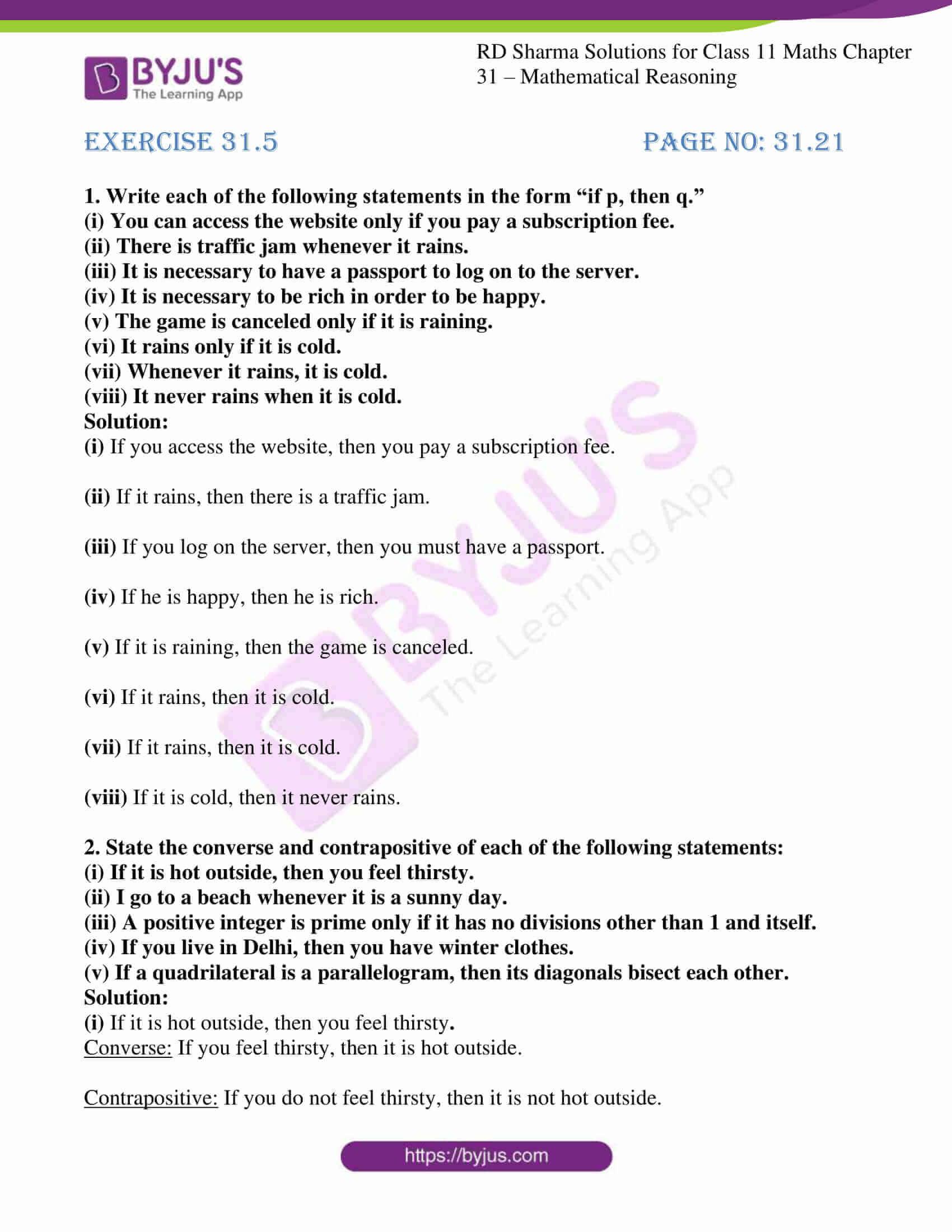 rd sharma class 11 maths chapter 31 ex 5 1