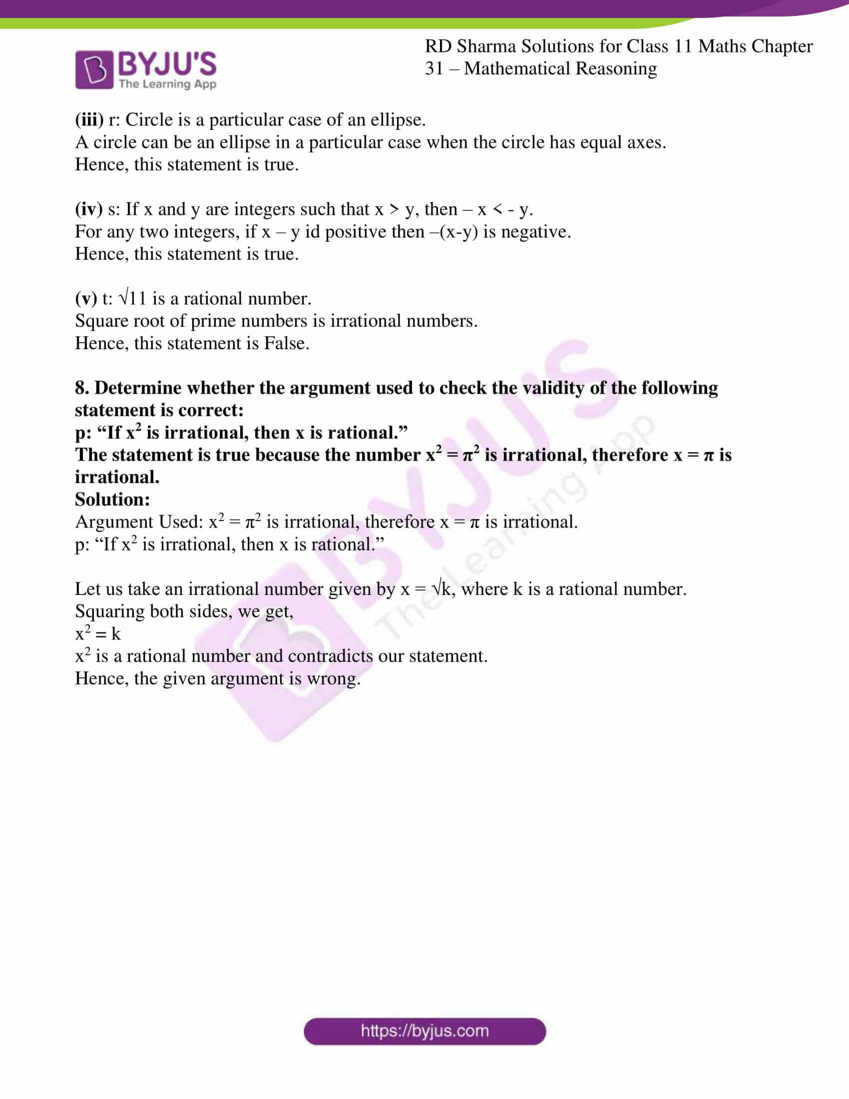 rd sharma class 11 maths chapter 31 ex 6 5