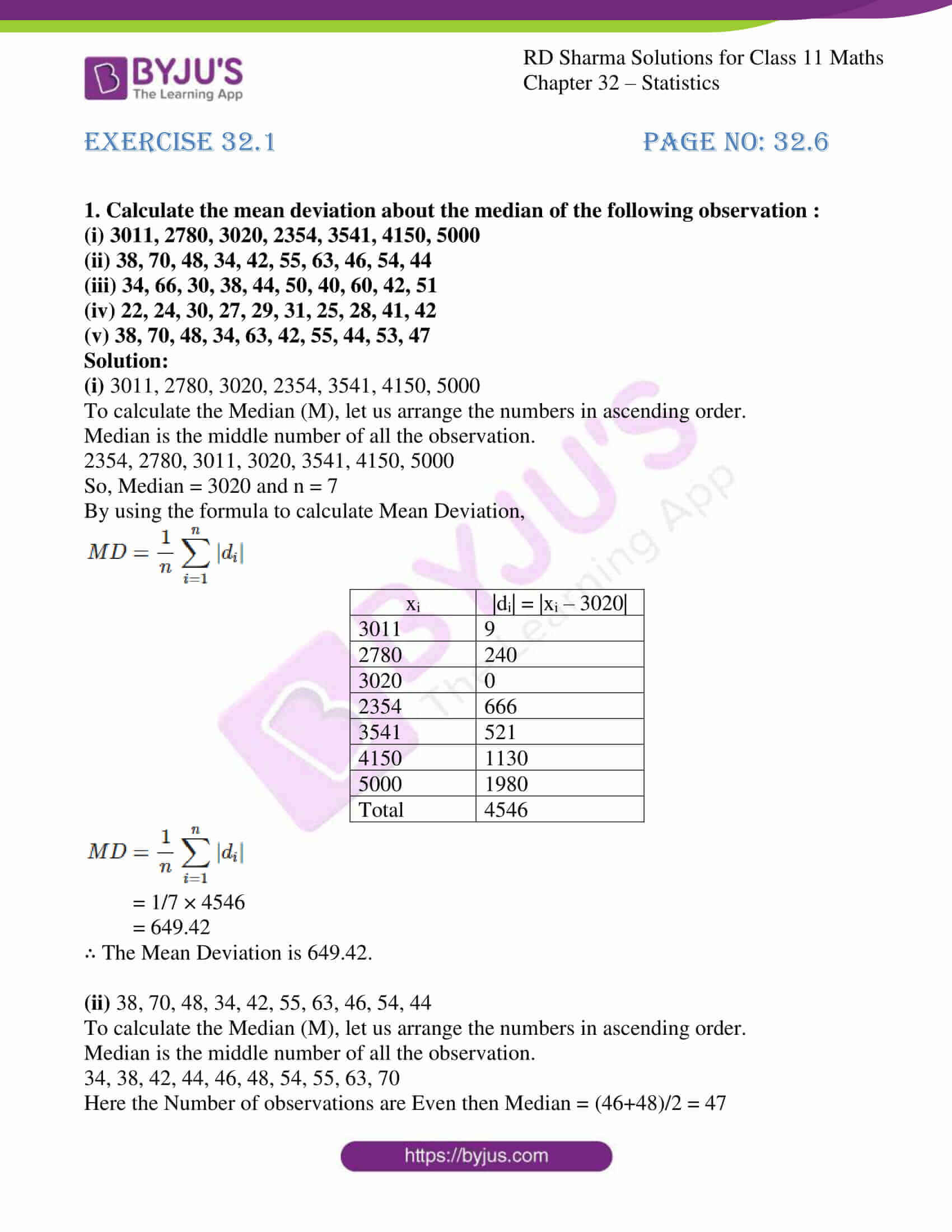 rd sharma class 11 maths chapter 32 ex 1 01