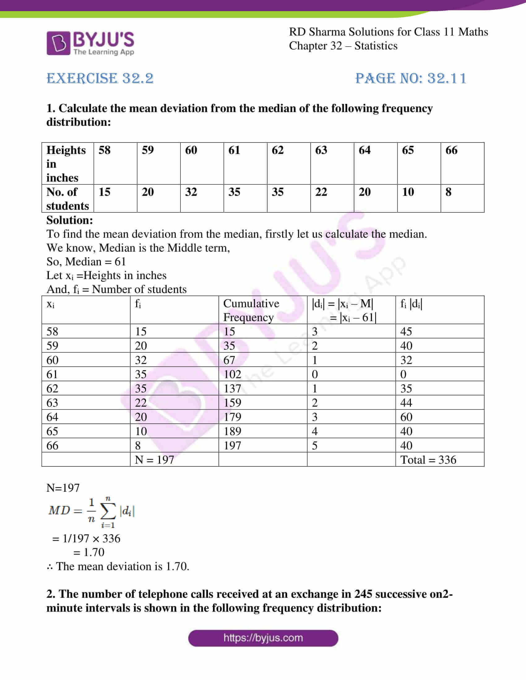 rd sharma class 11 maths chapter 32 ex 2 1