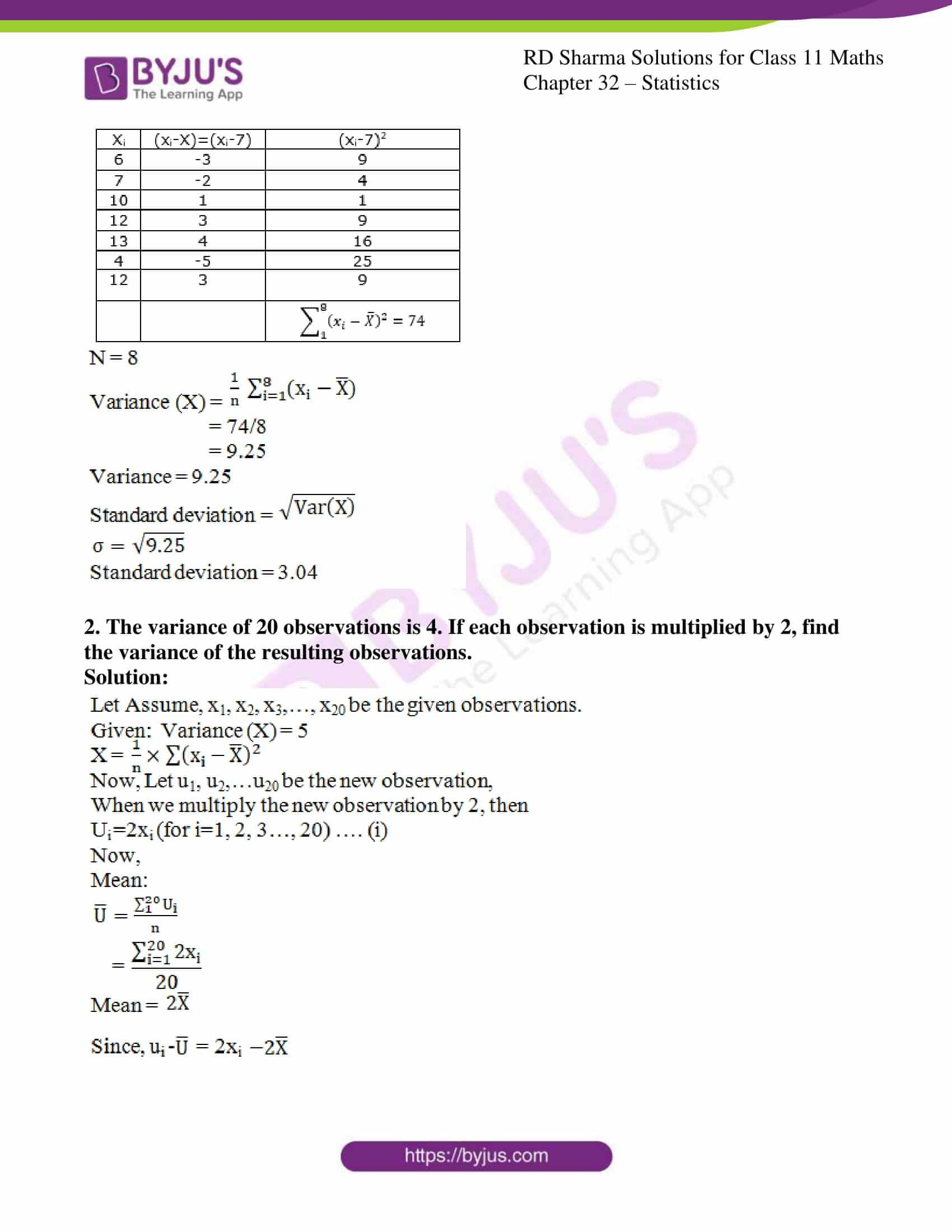 rd sharma class 11 maths chapter 32 ex 4 2