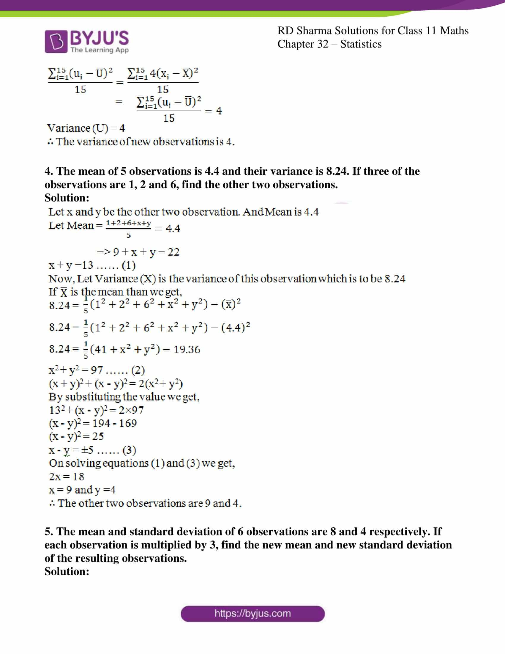rd sharma class 11 maths chapter 32 ex 4 4