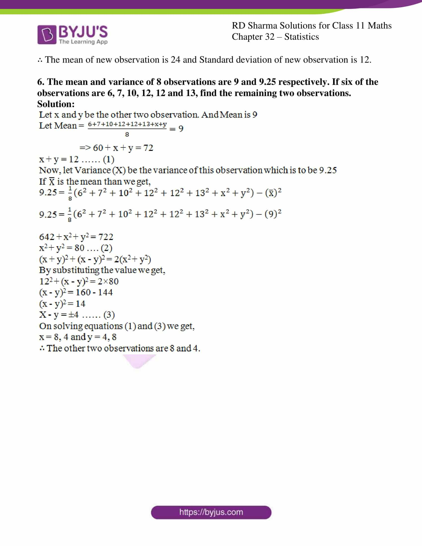 rd sharma class 11 maths chapter 32 ex 4 6
