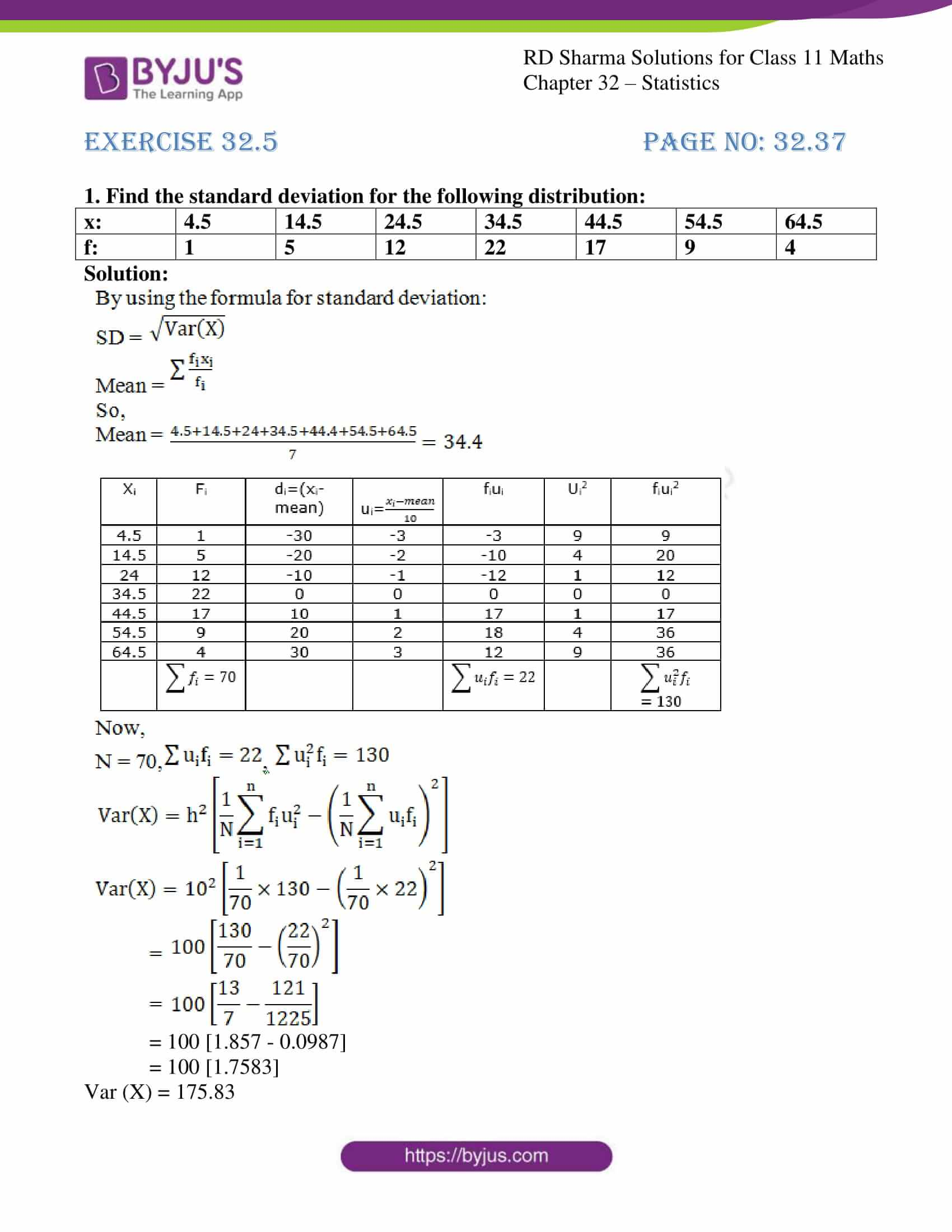 rd sharma class 11 maths chapter 32 ex 5 1
