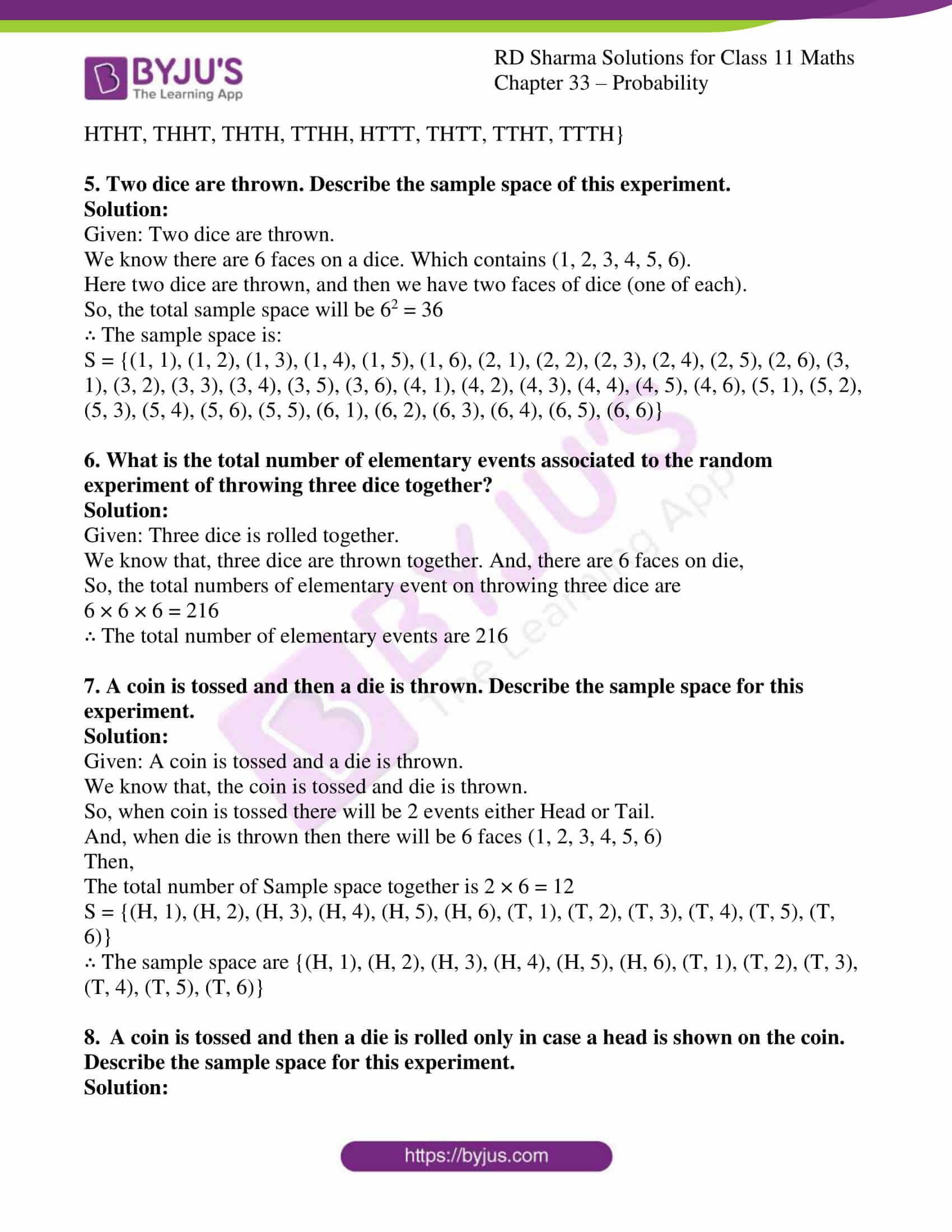 rd sharma class 11 maths chapter 33 ex 1 2