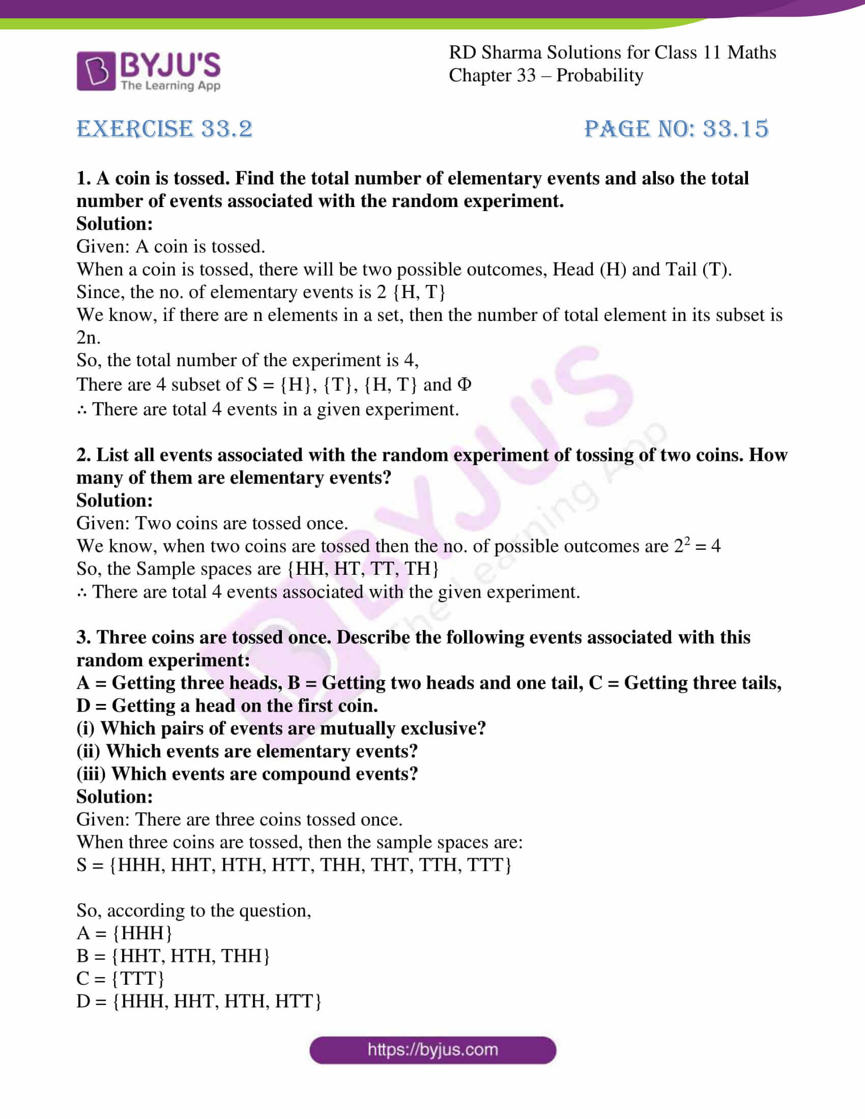 rd sharma class 11 maths chapter 33 ex 2 1