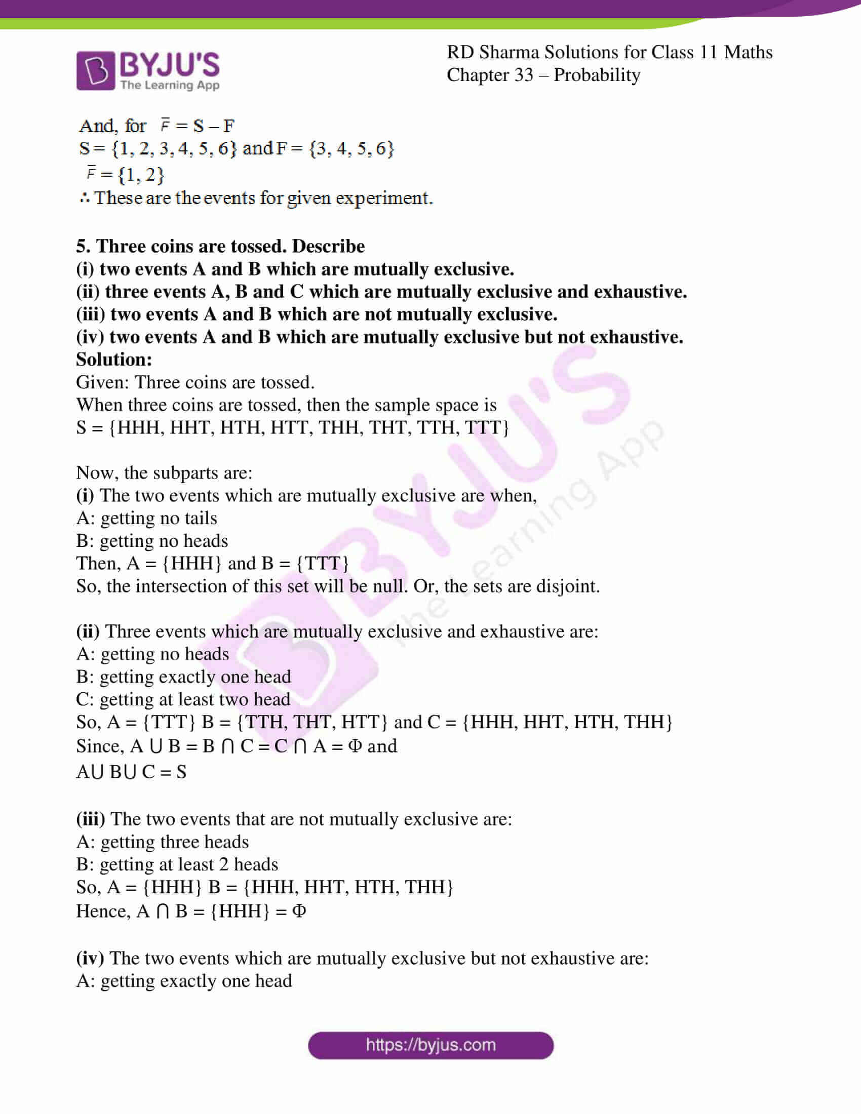 rd sharma class 11 maths chapter 33 ex 2 4
