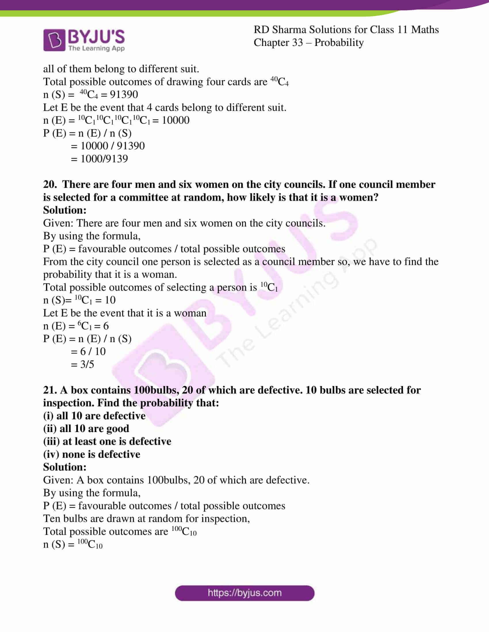 rd sharma class 11 maths chapter 33 ex 3 17