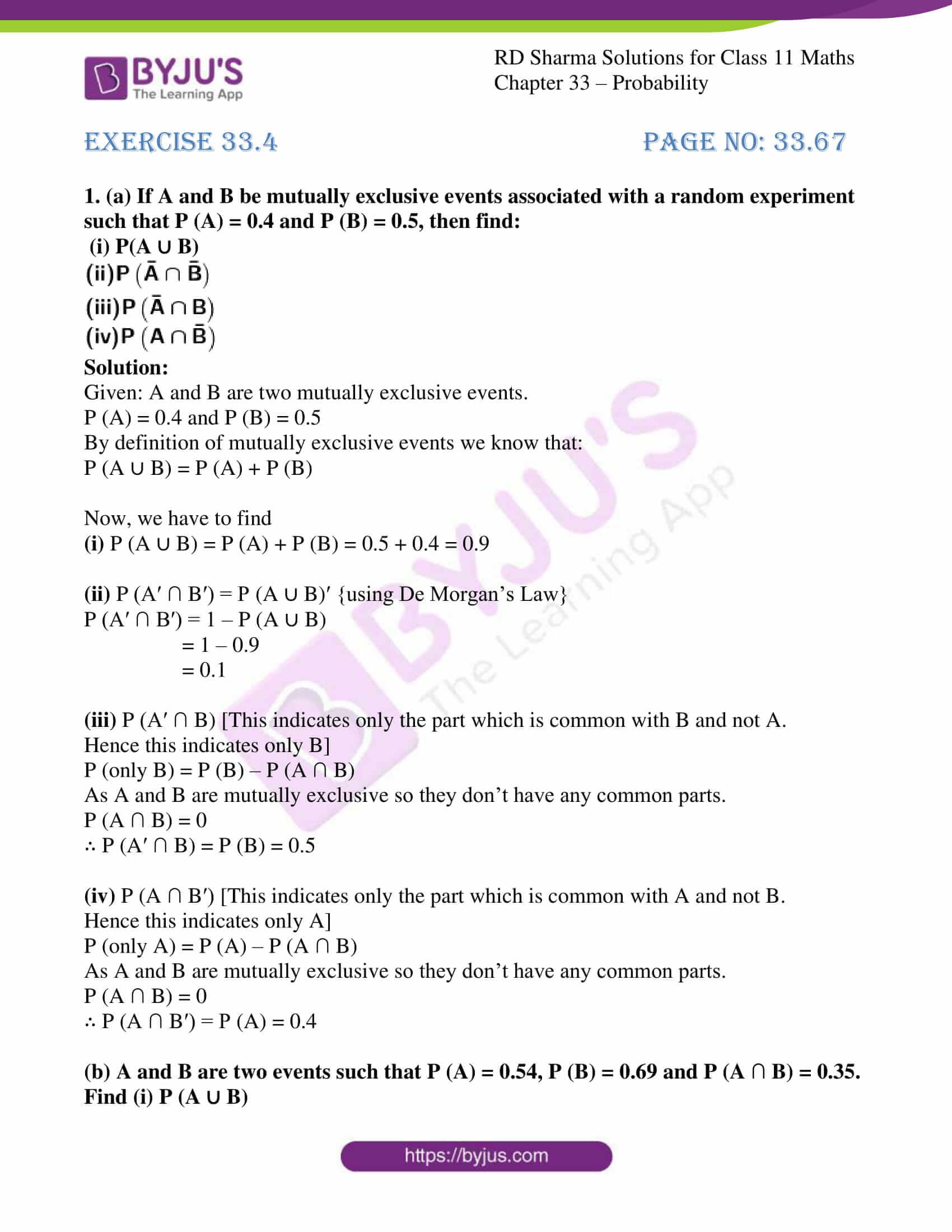 rd sharma class 11 maths chapter 33 ex 4 01