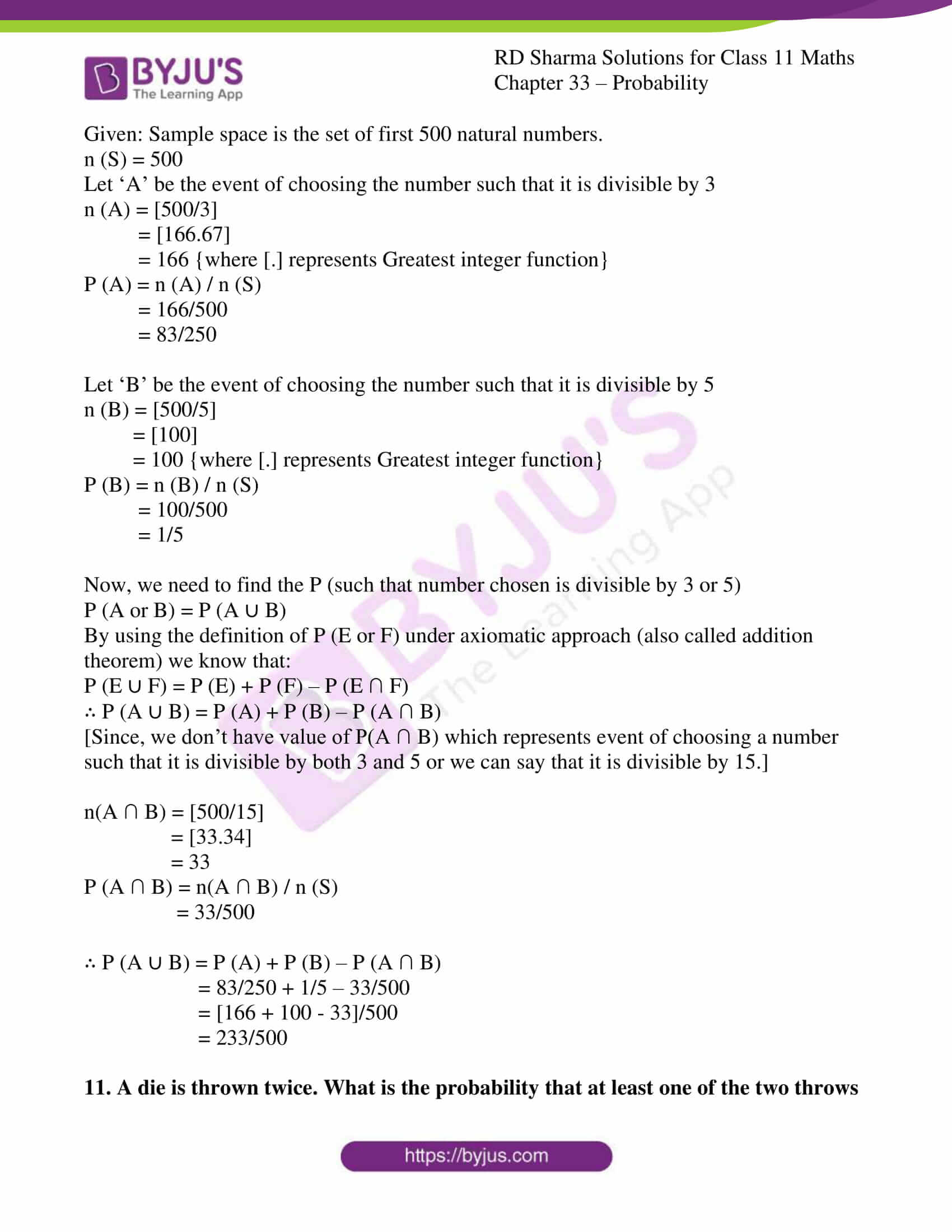 rd sharma class 11 maths chapter 33 ex 4 09