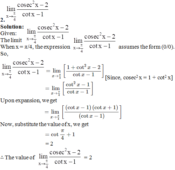RD Sharma Solutions for Class 11 Maths Chapter 29 – Limits - image 72