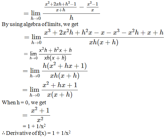 RD Sharma Solutions for Class 11 Maths Chapter 30 – Derivatives - image 22
