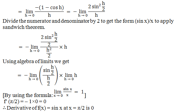 RD Sharma Solutions for Class 11 Maths Chapter 30 – Derivatives - image 9