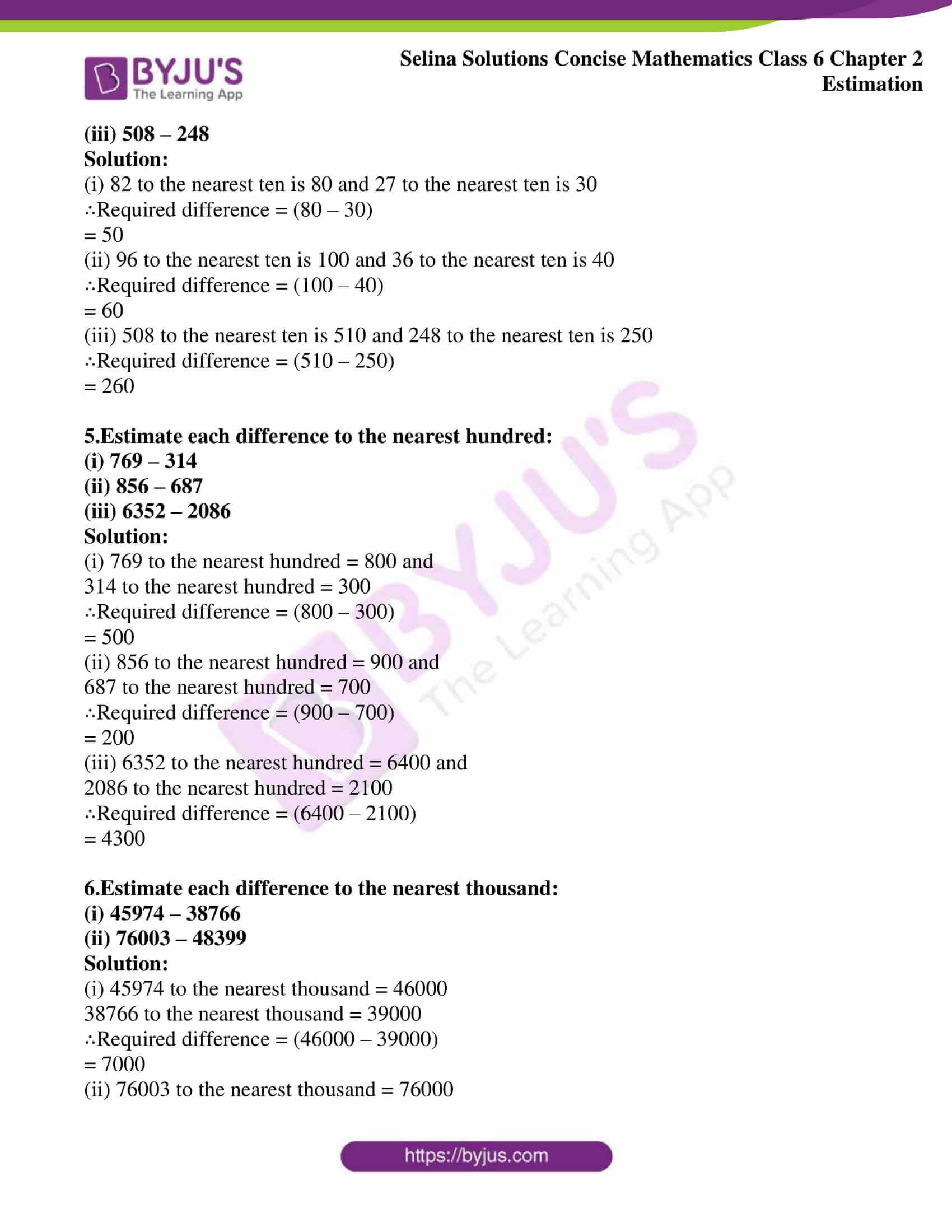 selina sol concise maths class 6 ch2 ex 2b 3
