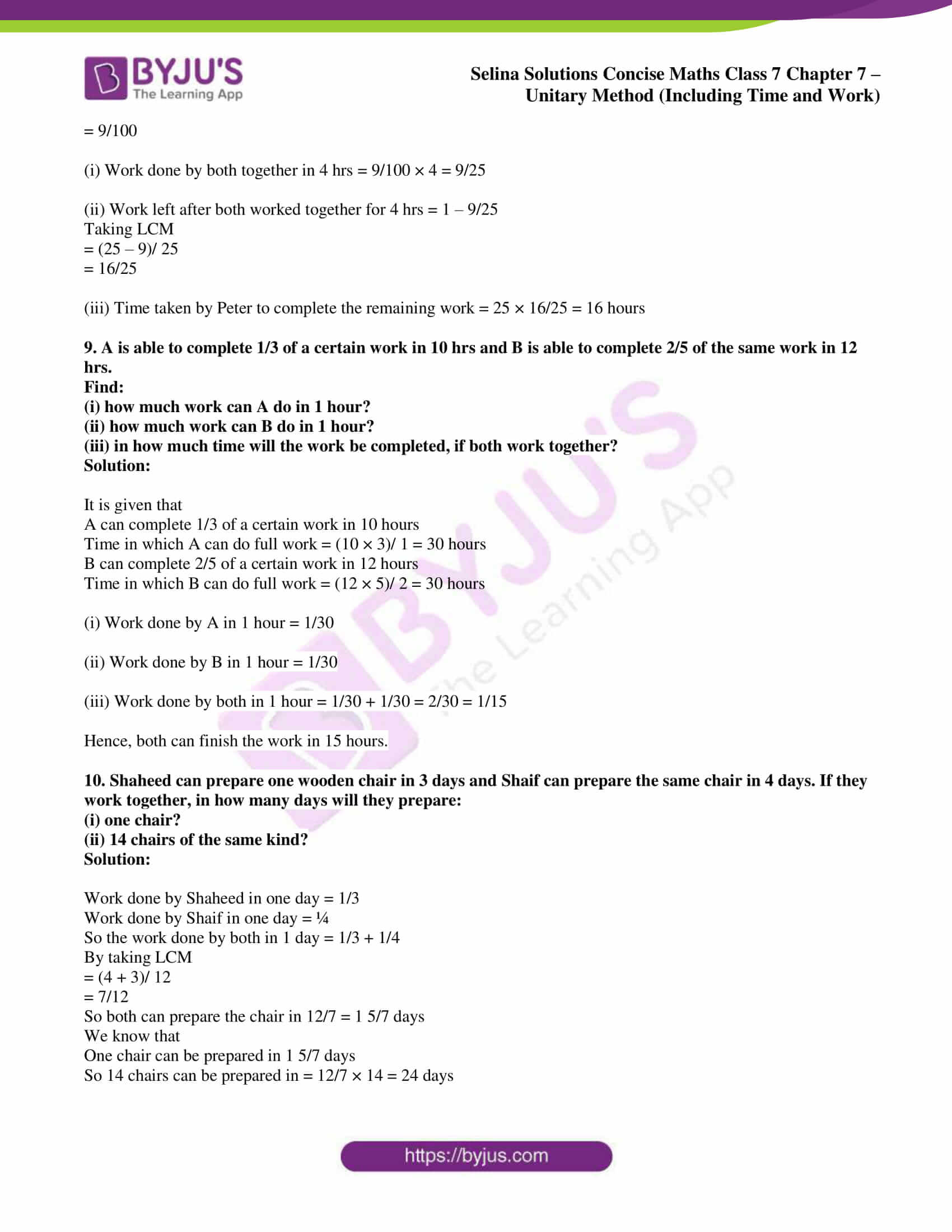 selina sol concise maths class 7 ch7 ex 7c 4