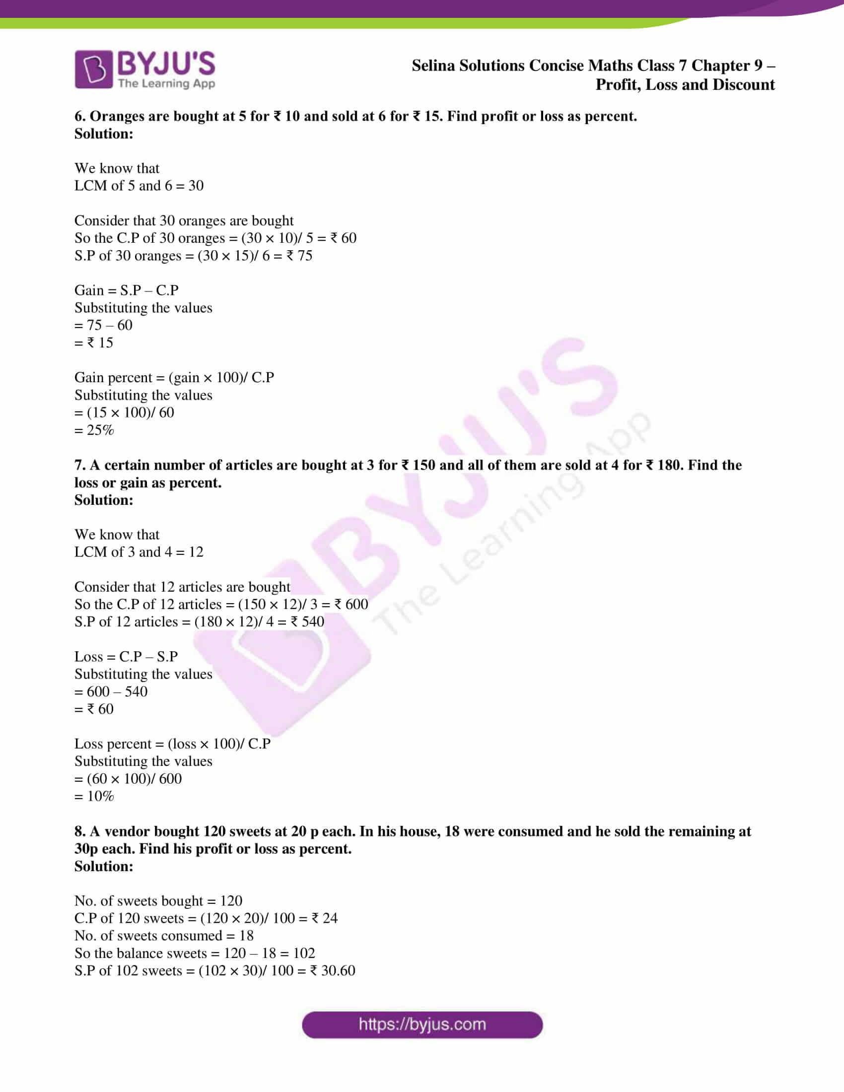 selina sol concise maths class 7 ch9 ex 9a 4