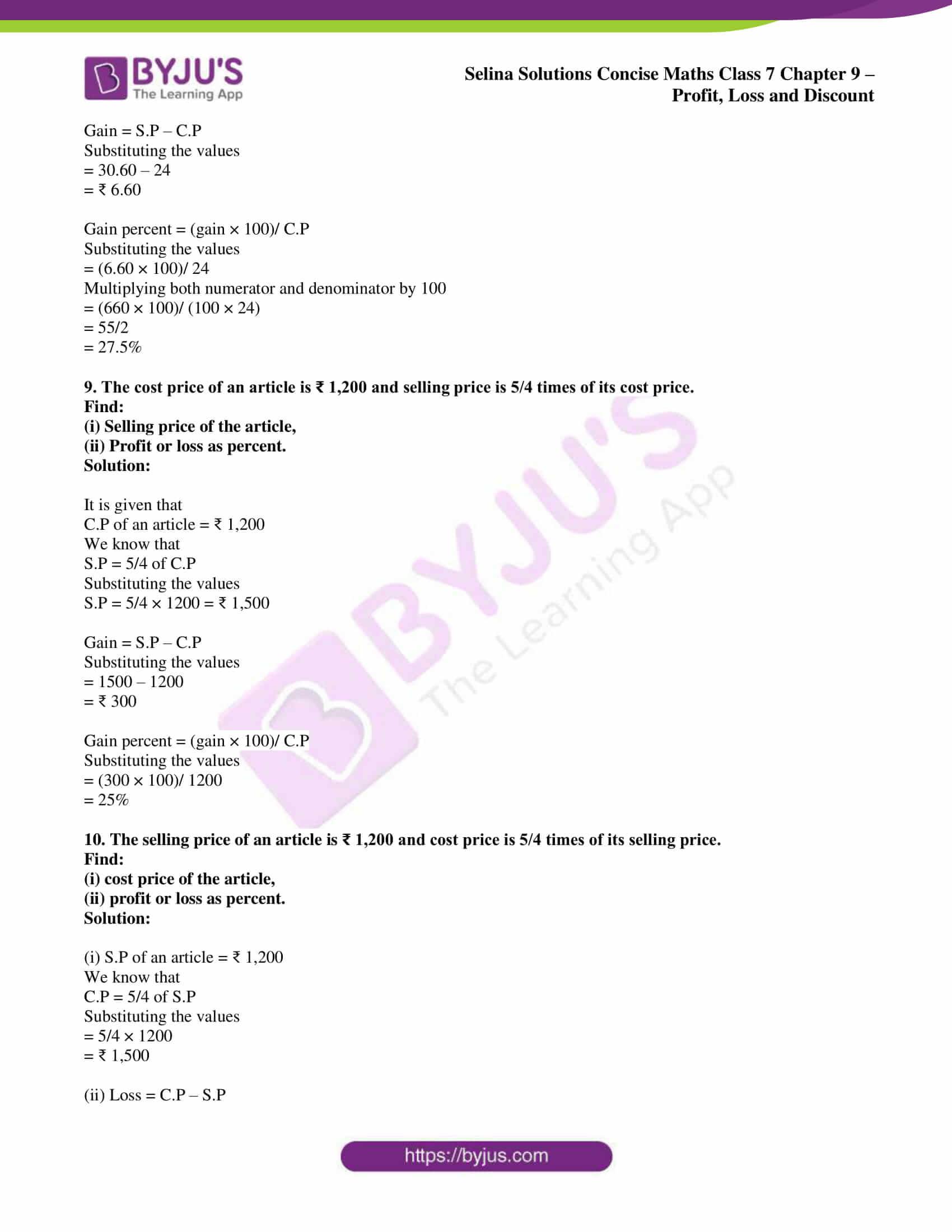 selina sol concise maths class 7 ch9 ex 9a 5