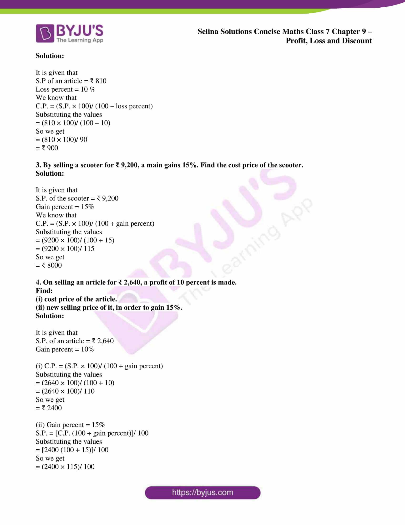 selina sol concise maths class 7 ch9 ex 9b 2
