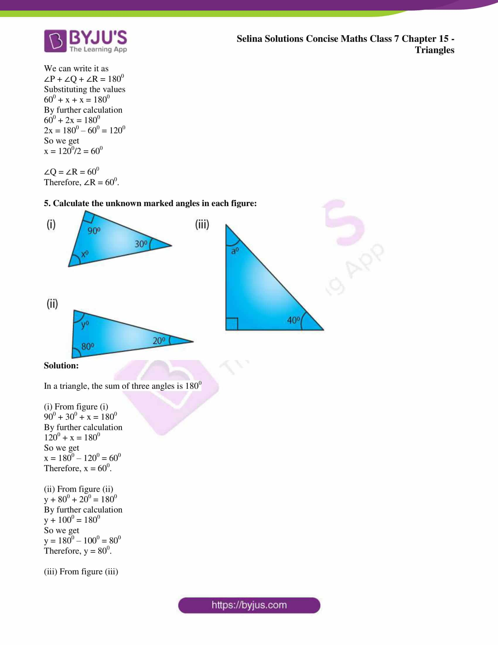 selina sol concise maths class 7 chapter 15 ex a 2