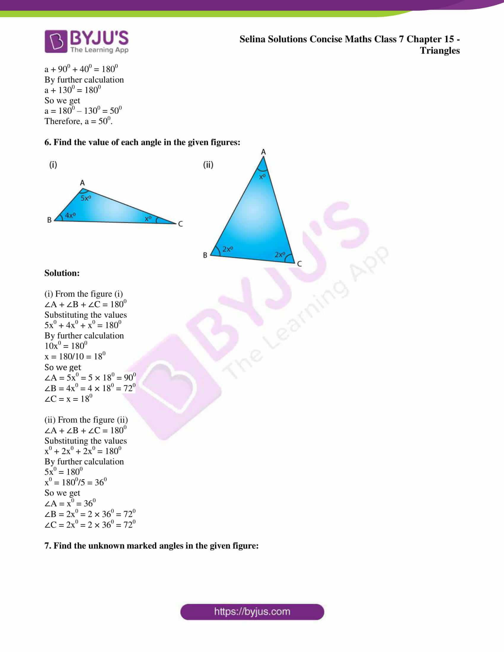 selina sol concise maths class 7 chapter 15 ex a 3