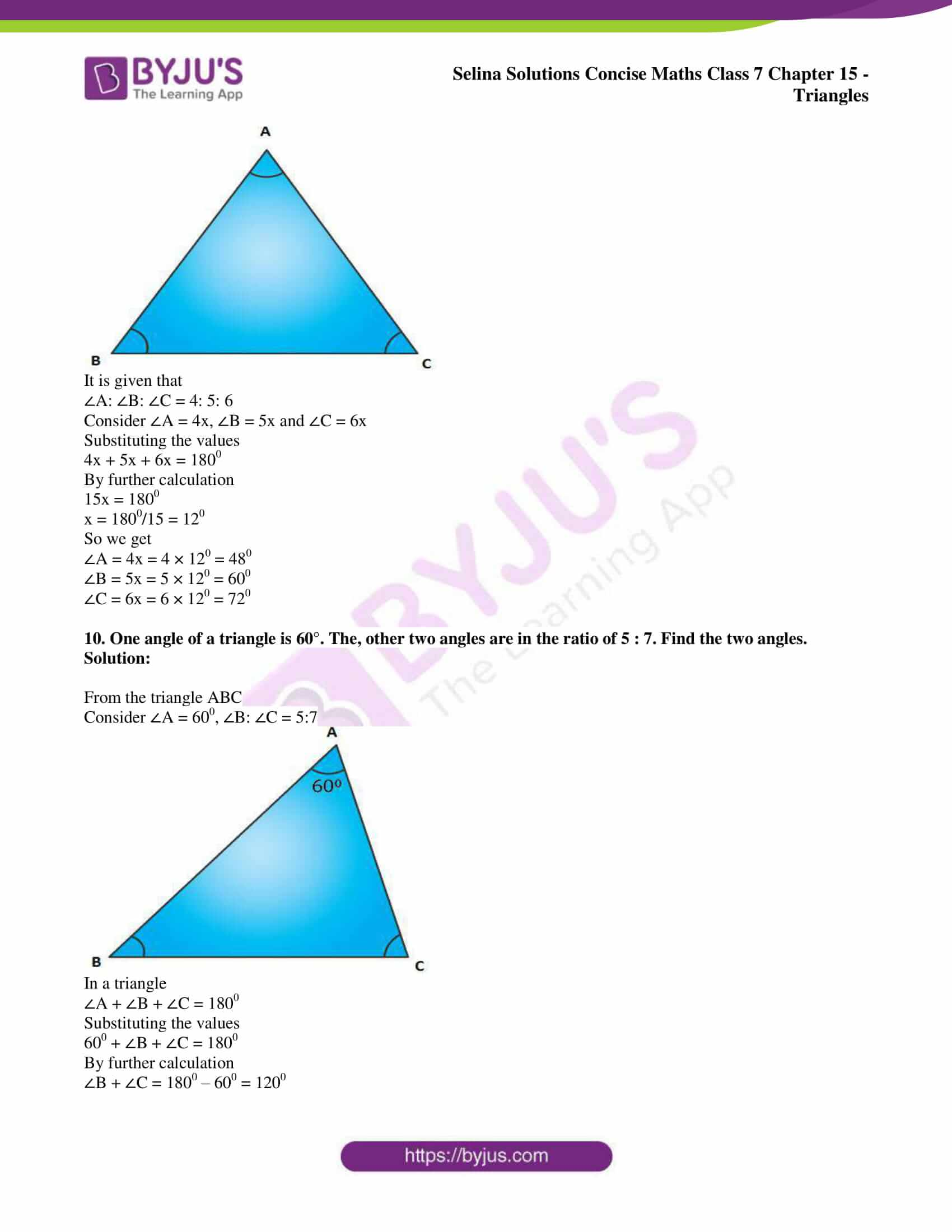selina sol concise maths class 7 chapter 15 ex a 6