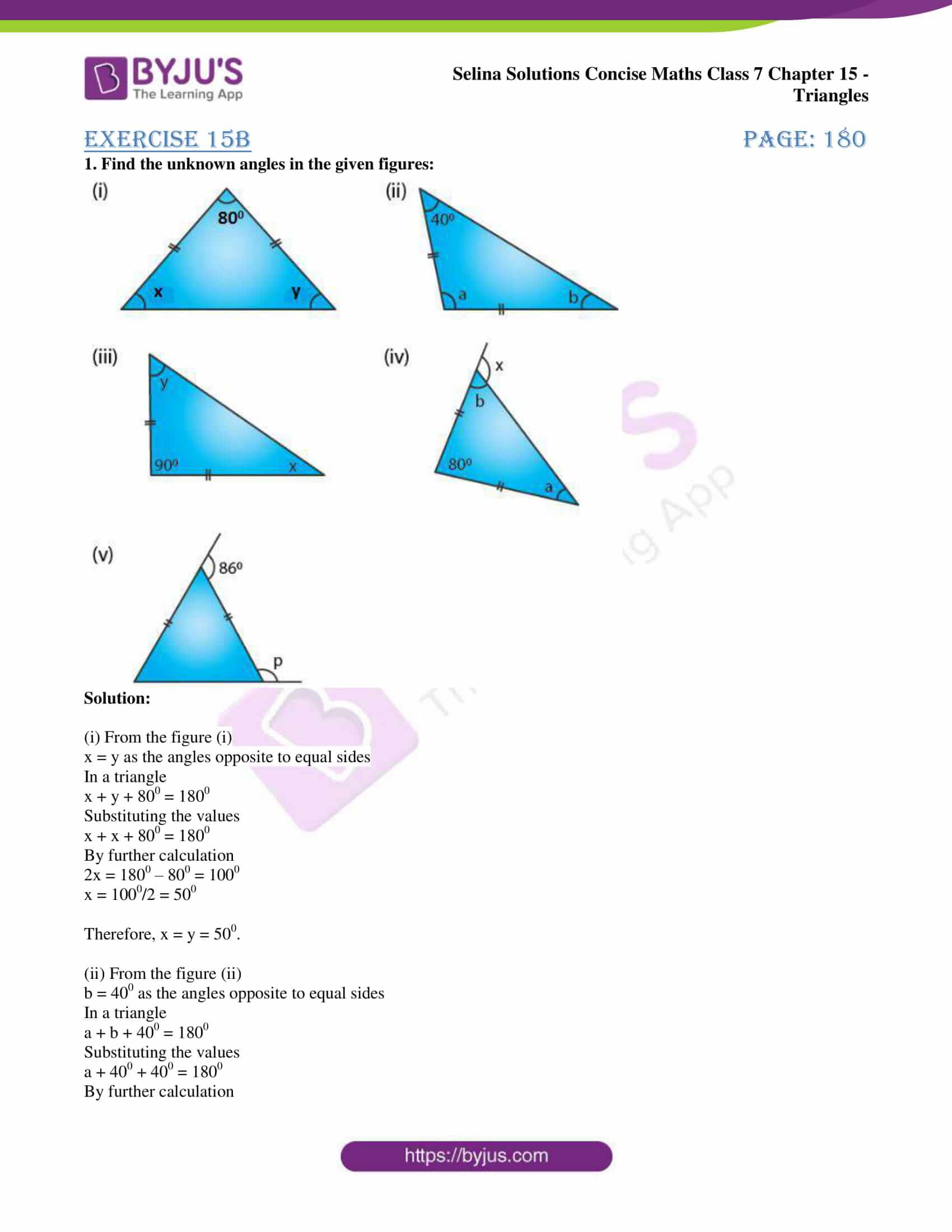 selina sol concise maths class 7 chapter 15 ex b 01