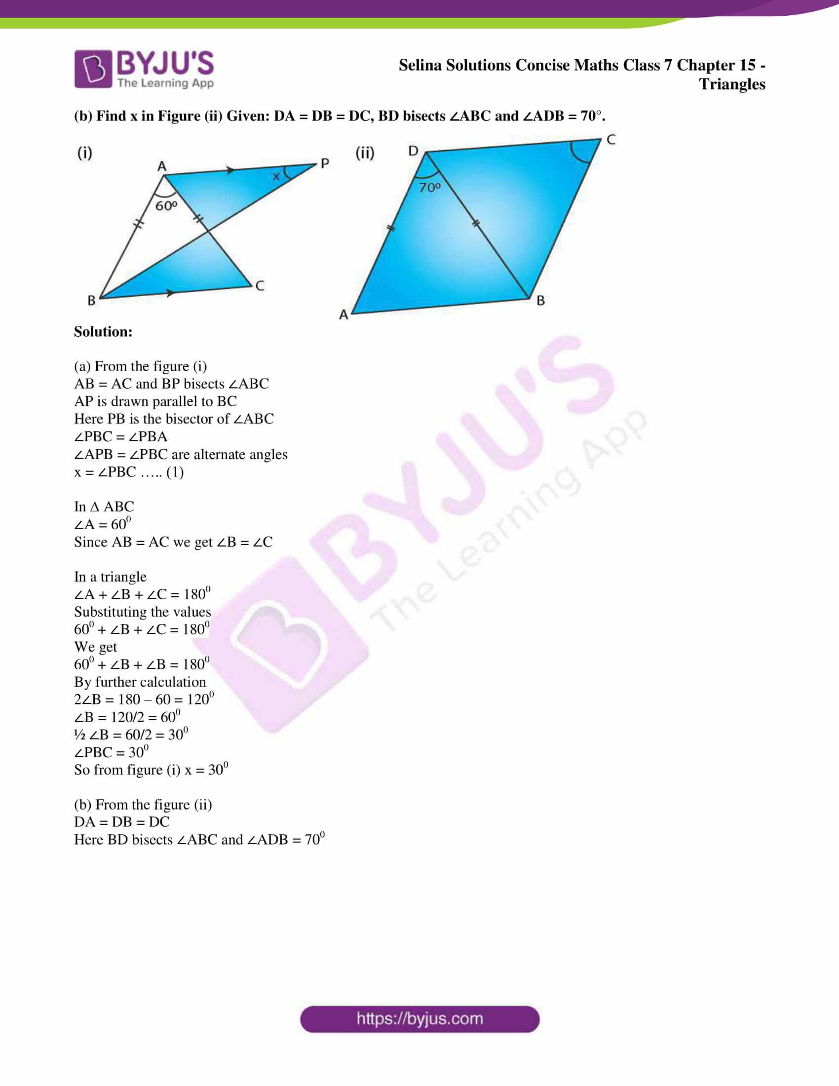 selina sol concise maths class 7 chapter 15 ex b 10