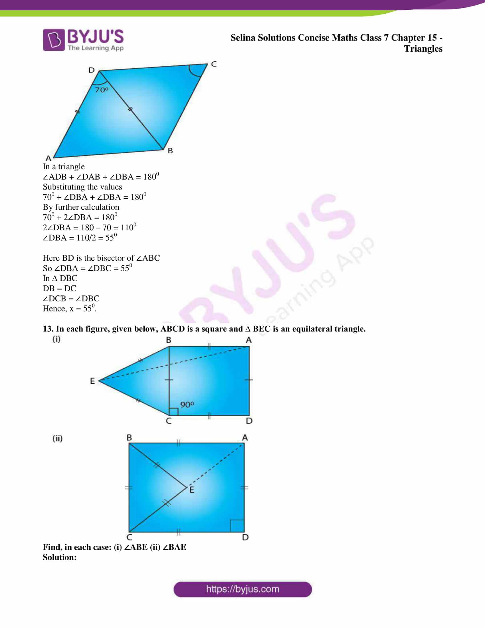 selina sol concise maths class 7 chapter 15 ex b 11