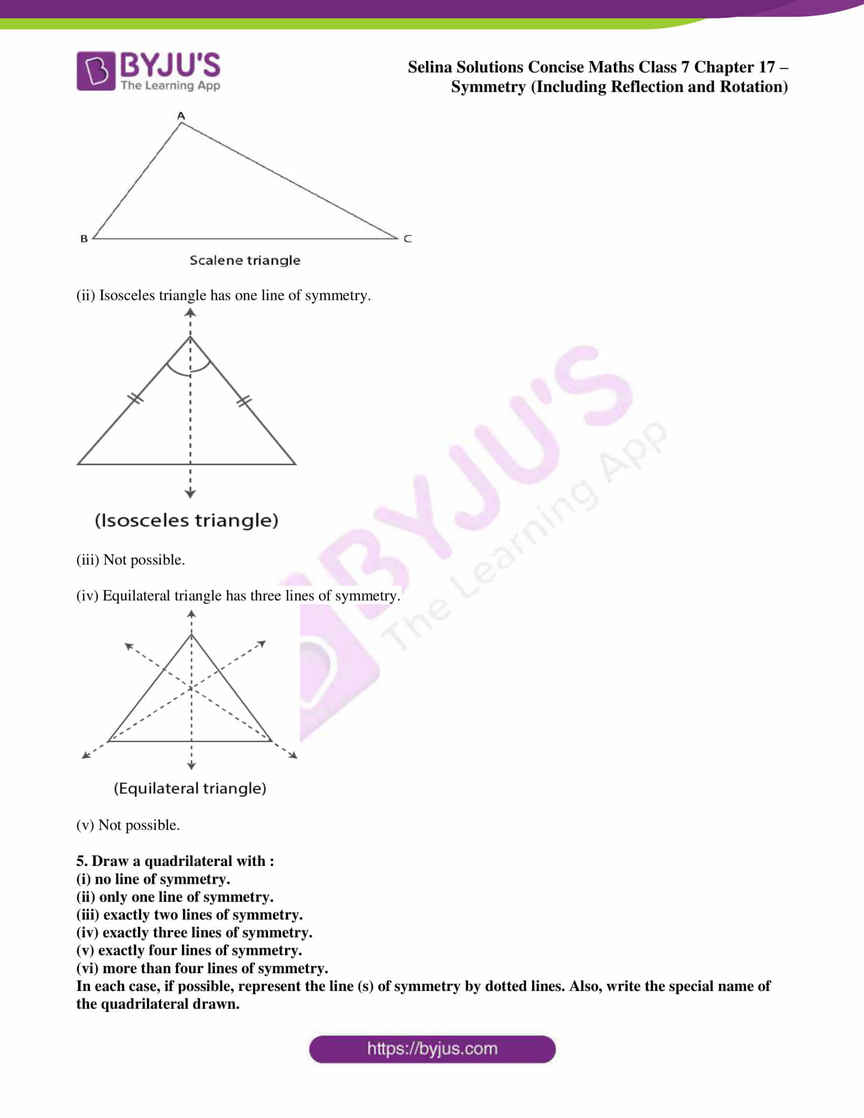 selina sol concise maths class 7 chapter 17 ex a 4