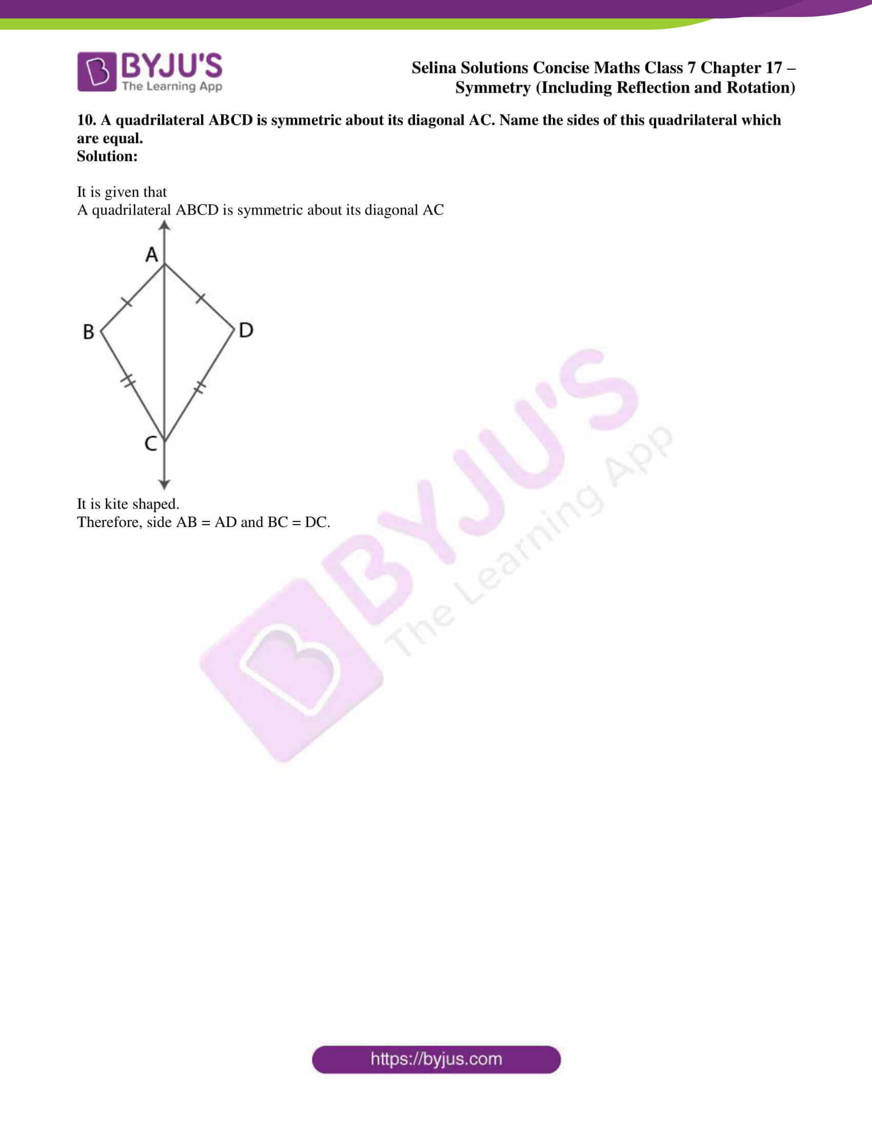 selina sol concise maths class 7 chapter 17 ex a 8
