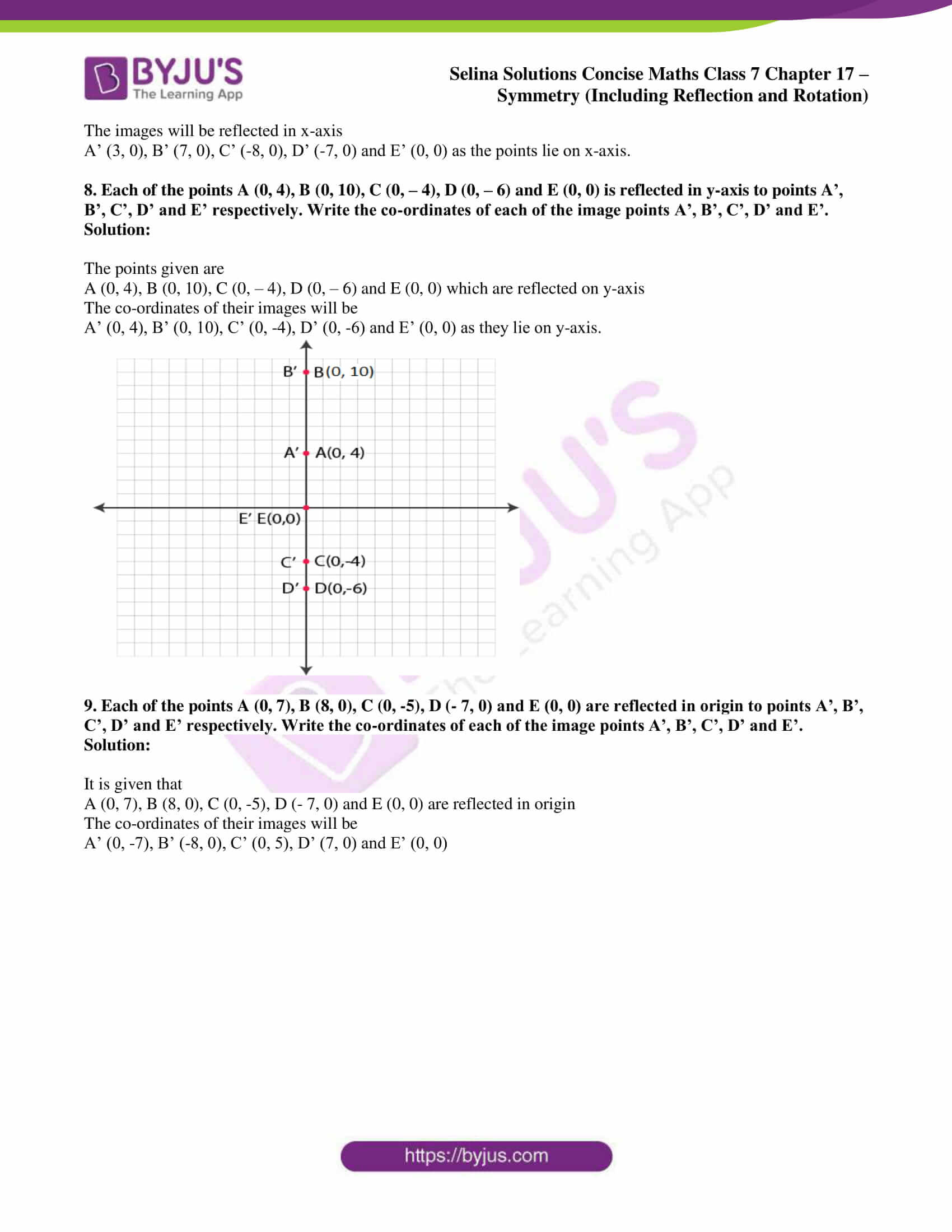 selina sol concise maths class 7 chapter 17 ex b 6