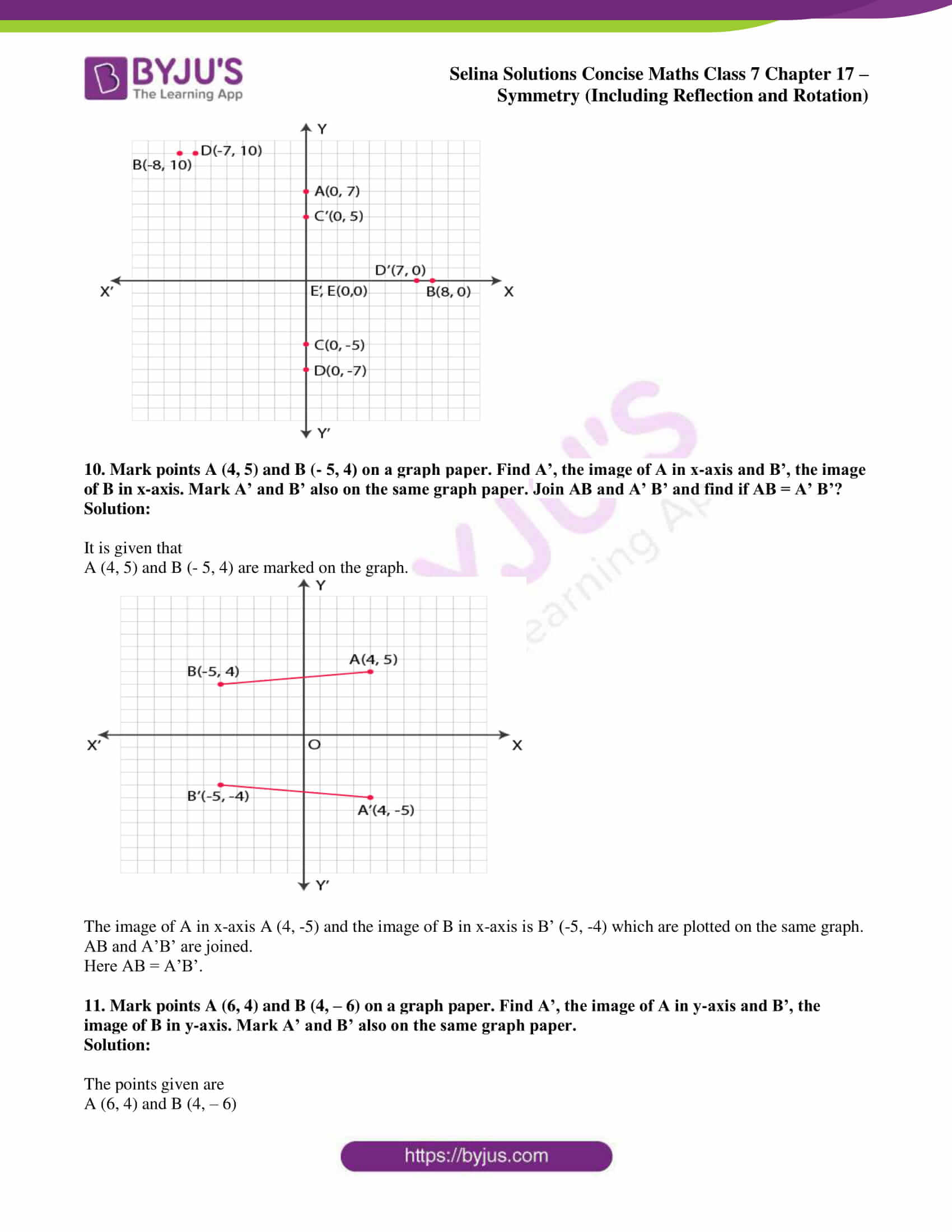 selina sol concise maths class 7 chapter 17 ex b 7