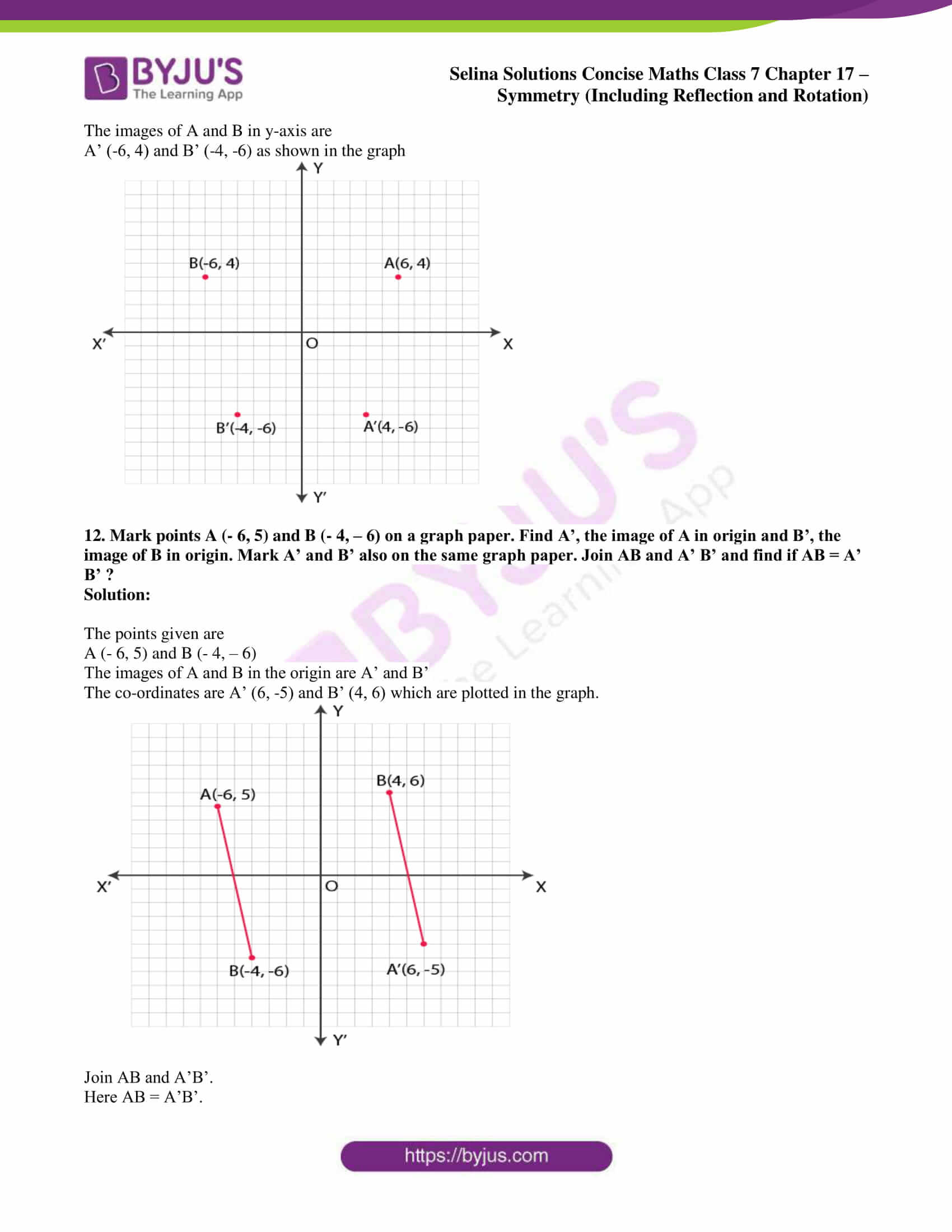 selina sol concise maths class 7 chapter 17 ex b 8