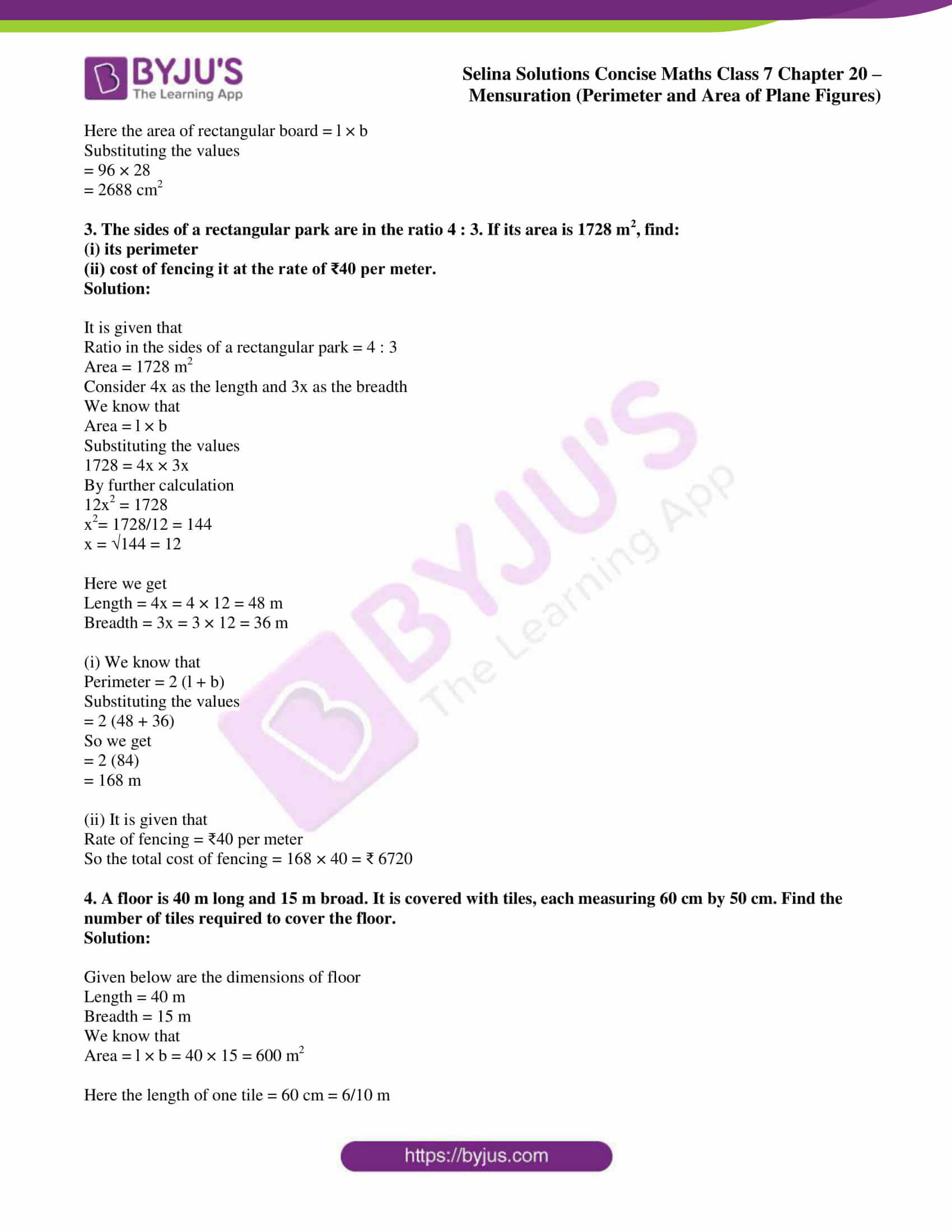 selina sol concise maths class 7 chapter 20 ex b 2