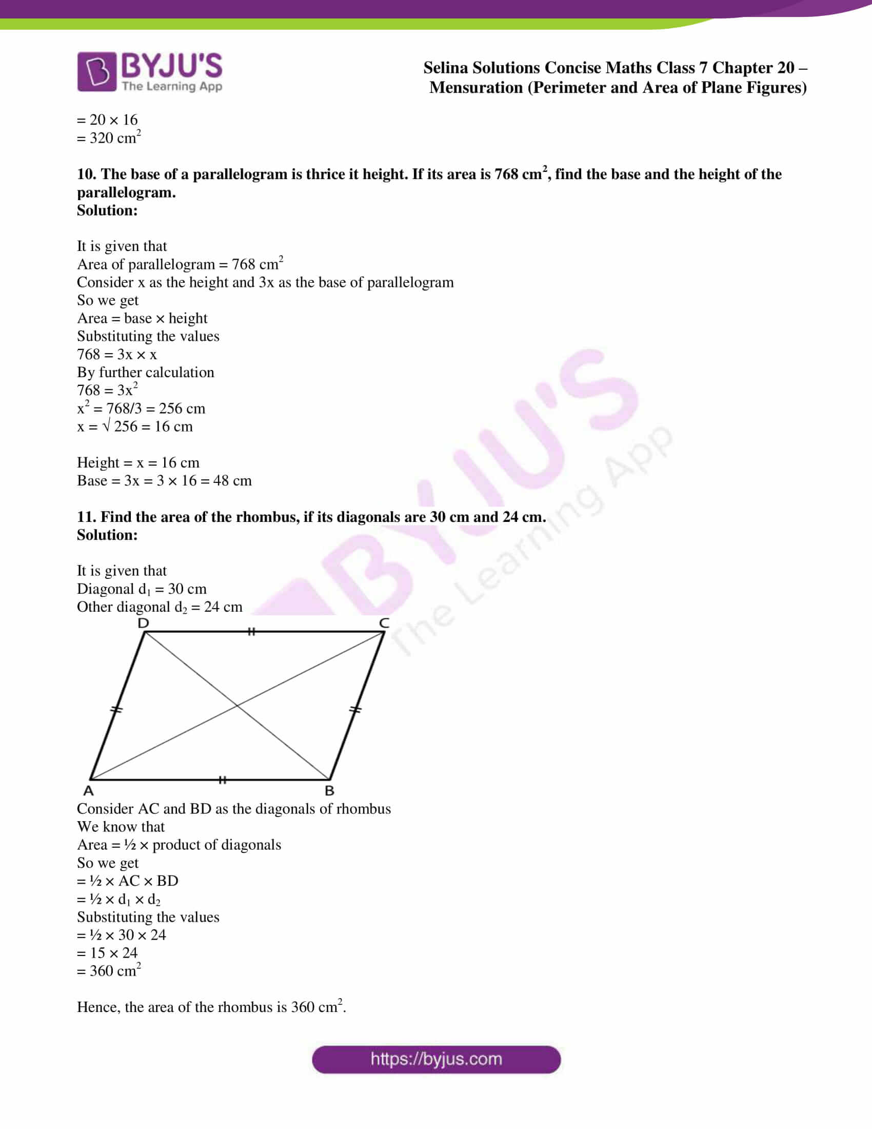 selina sol concise maths class 7 chapter 20 ex b 7