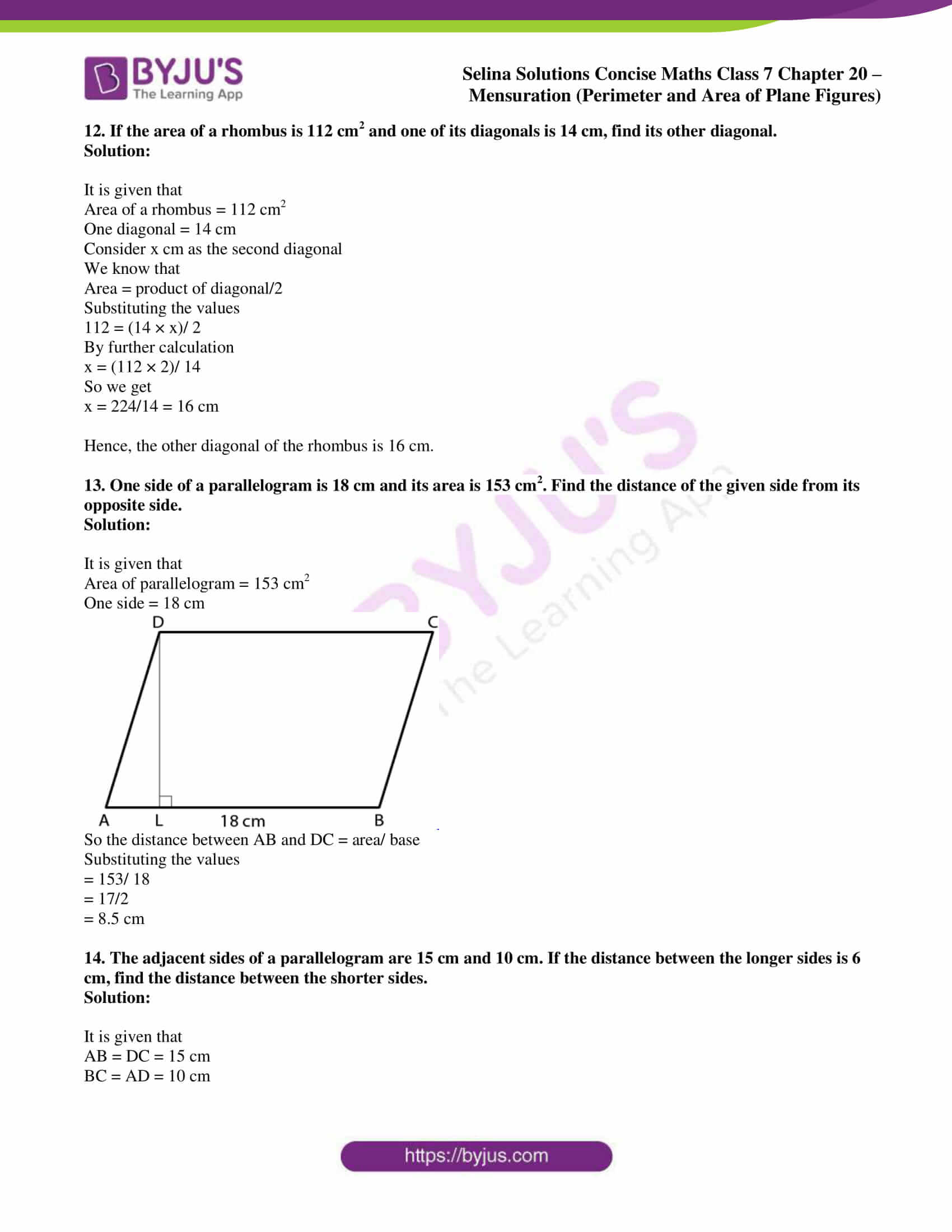 selina sol concise maths class 7 chapter 20 ex b 8