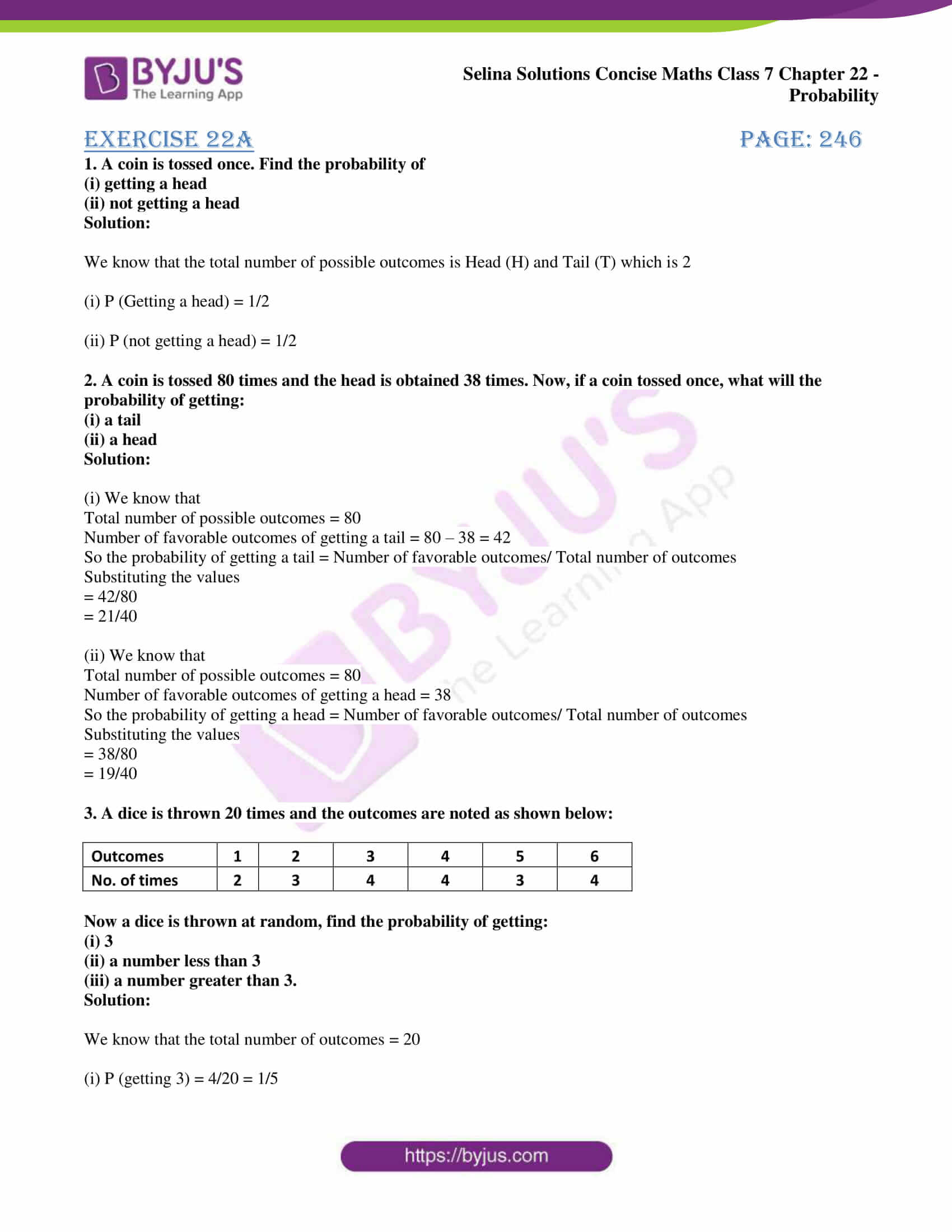 selina sol concise maths class 7 chapter 22 ex a 1