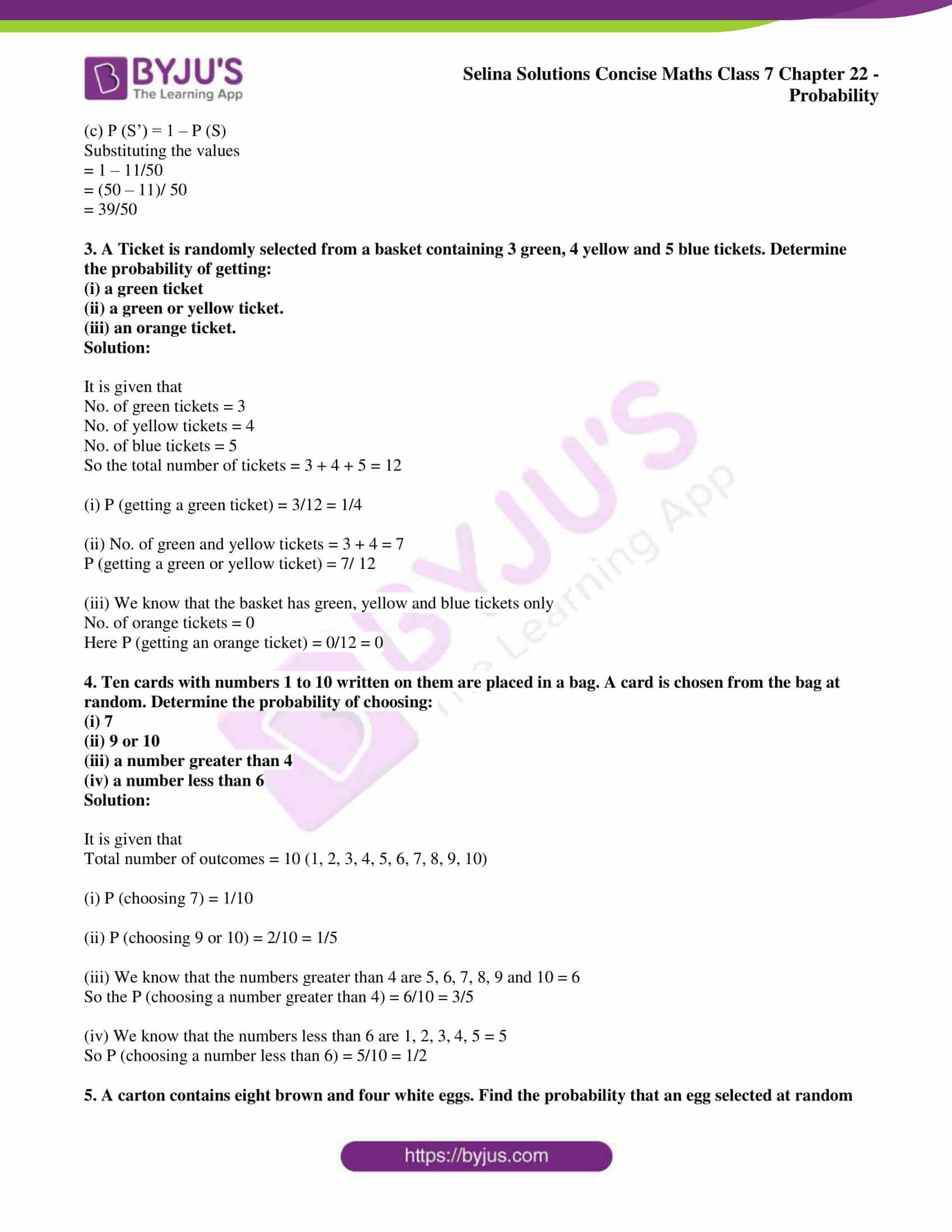selina sol concise maths class 7 chapter 22 ex b 2