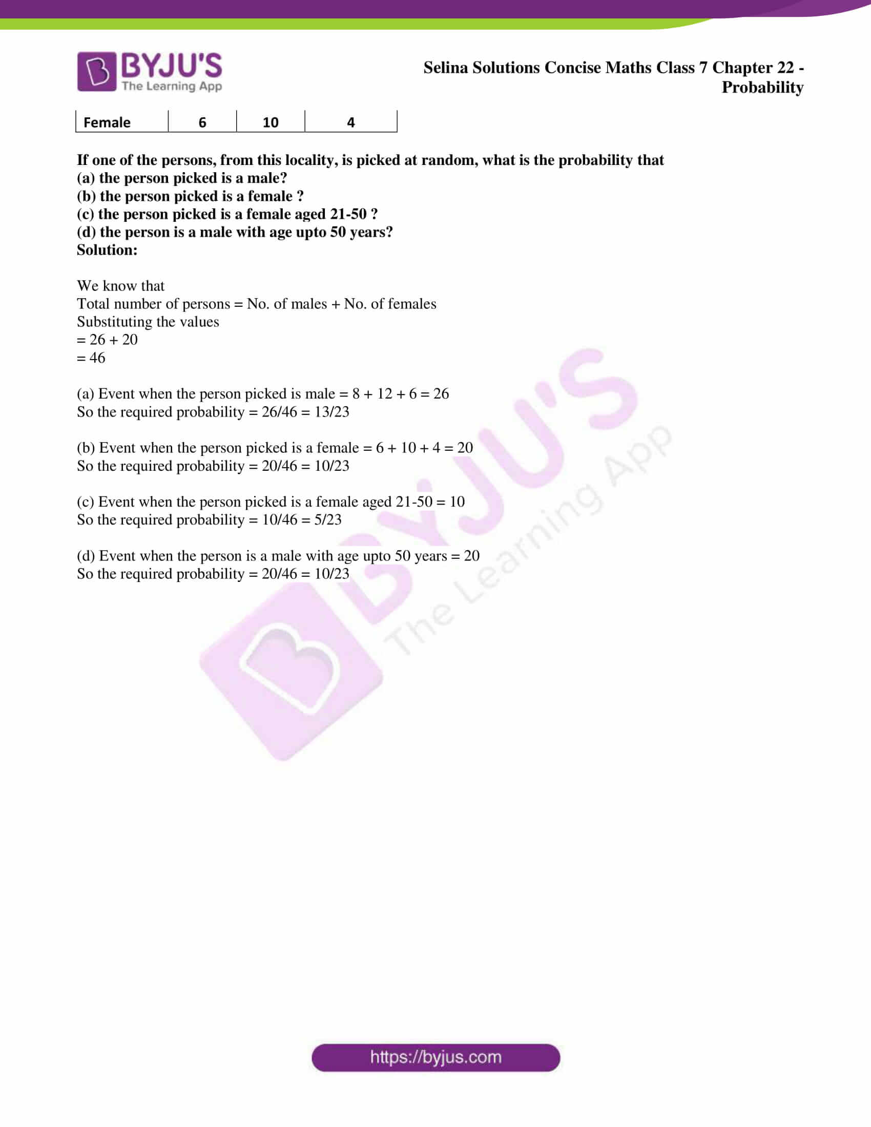 selina sol concise maths class 7 chapter 22 ex b 4