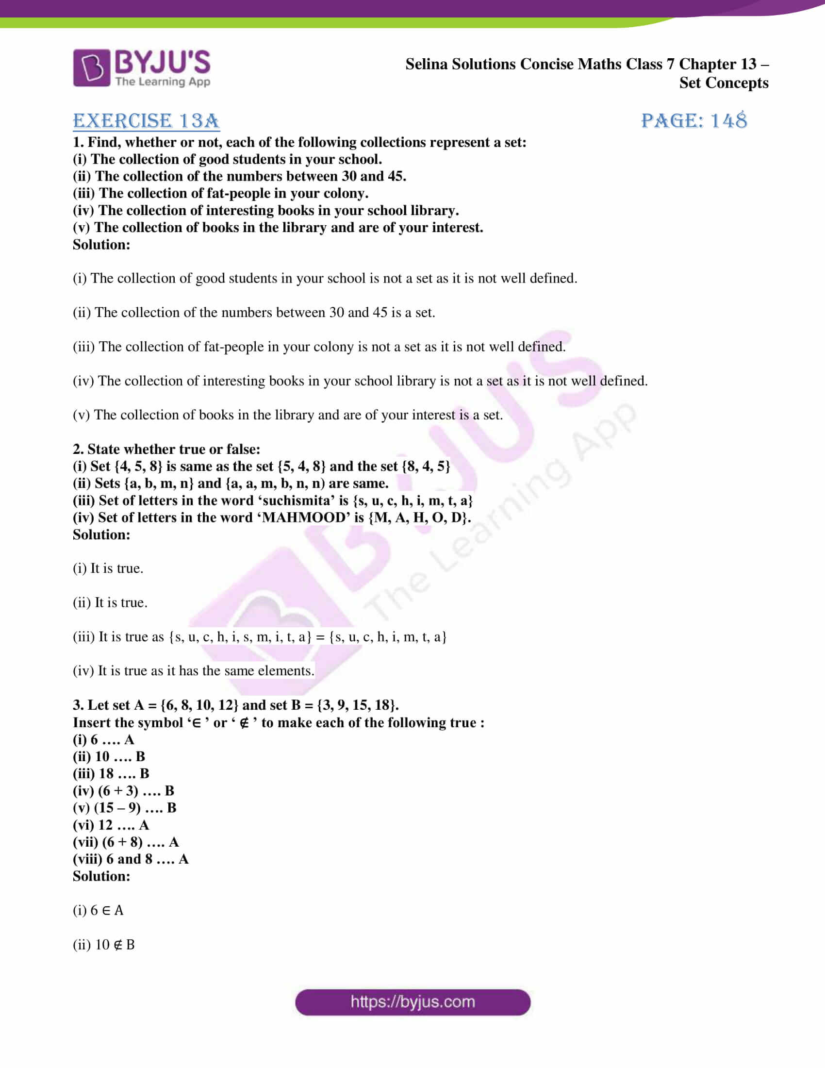 selina solution concise maths class 7 ch 13a 1
